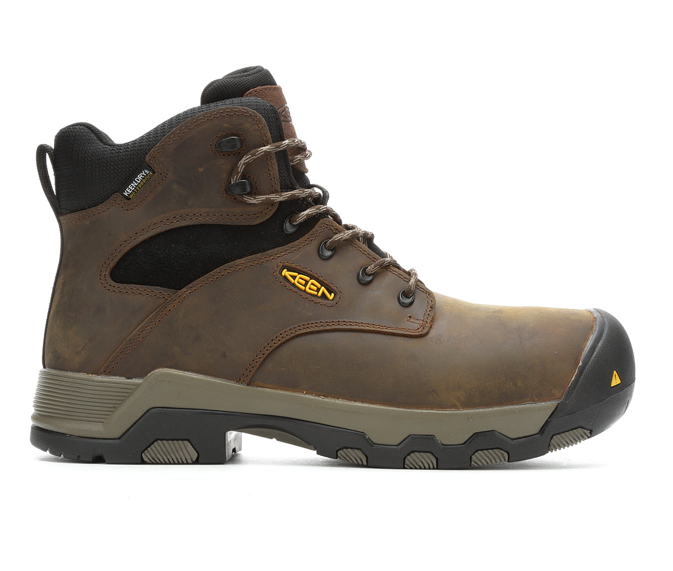 KEEN Utility Rockford 6in Composite Toe Men's Boots (Brown Leather)