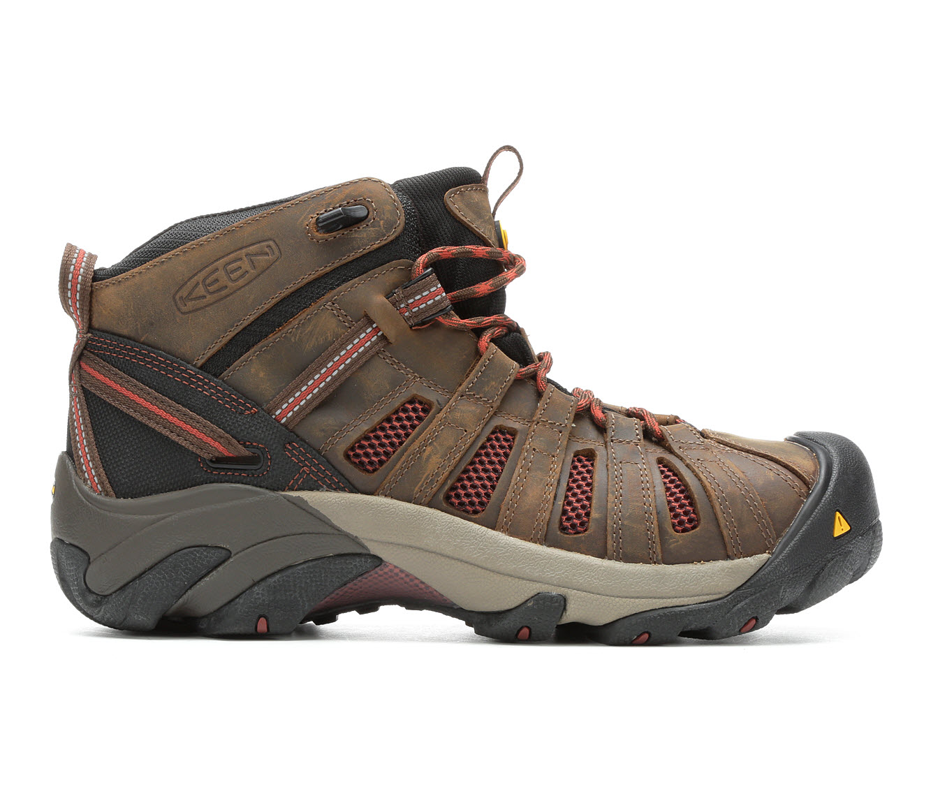 KEEN Utility Flint Mid Steel Toe Men's Boots (Brown Leather)