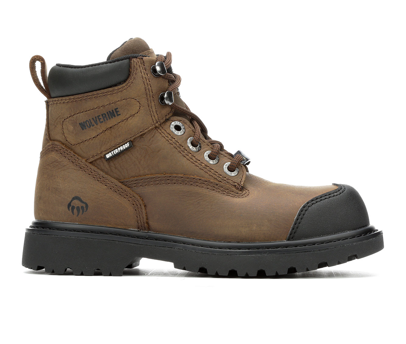 Wolverine Rig Composite Toe Waterproof Men's Boots (Brown Leather)