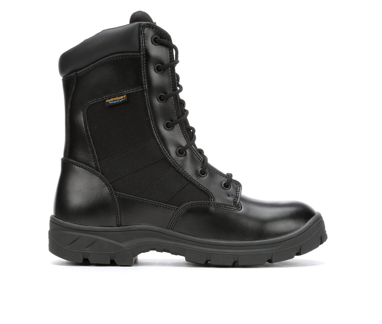 Skechers Work Athas Zip Waterproof 77514 Men's Boots (Black Leather)