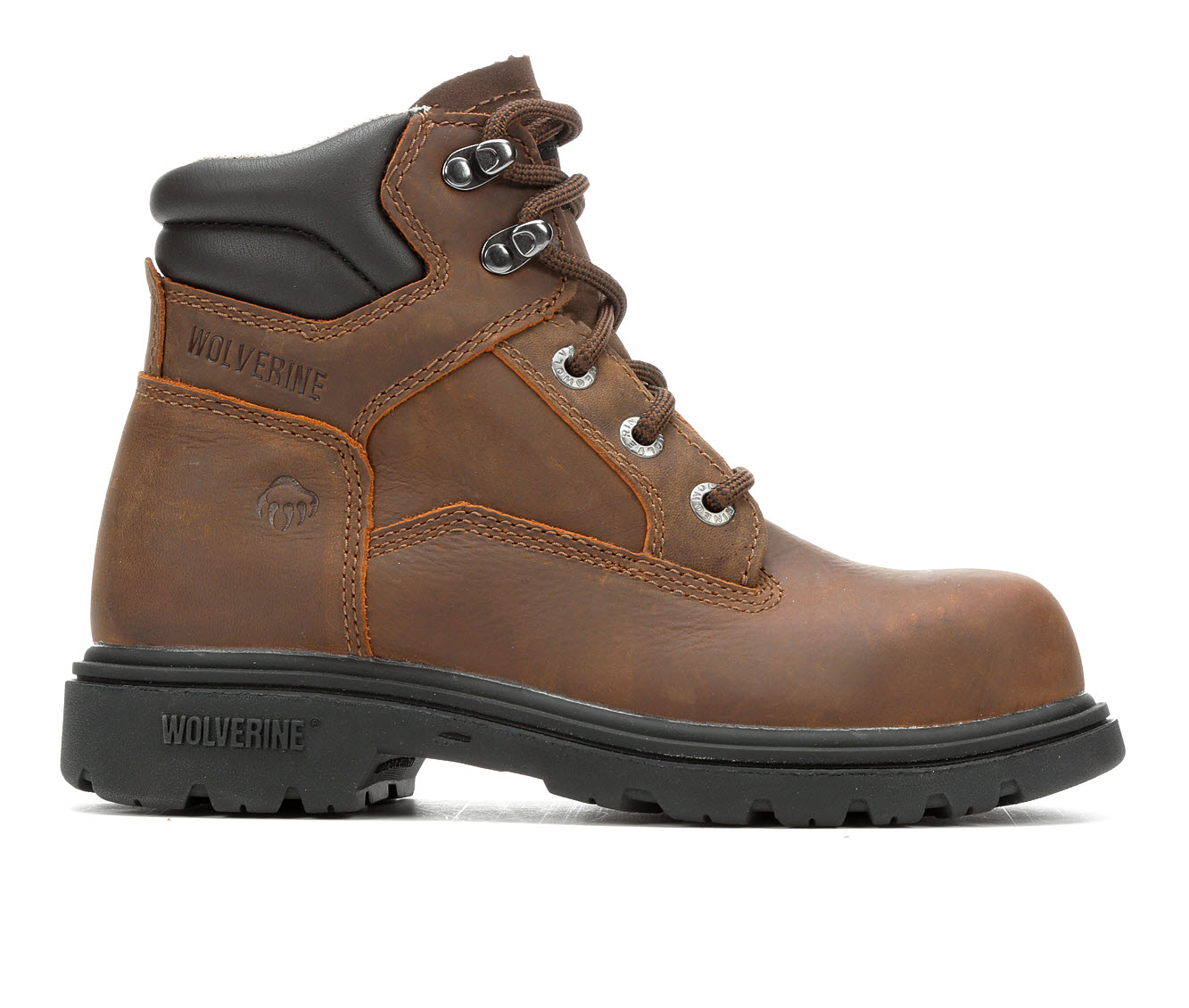 Wolverine Bulldozer Steel Toe Men's Boots (Brown Leather)