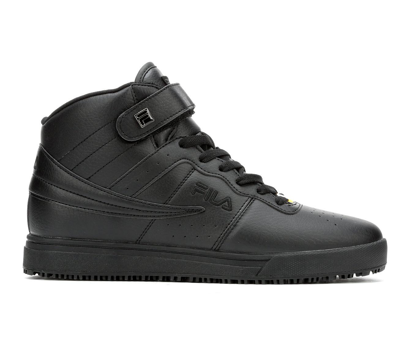 Fila Vulc 13 Slip Resistant Men's Boots (Black Faux Leather)