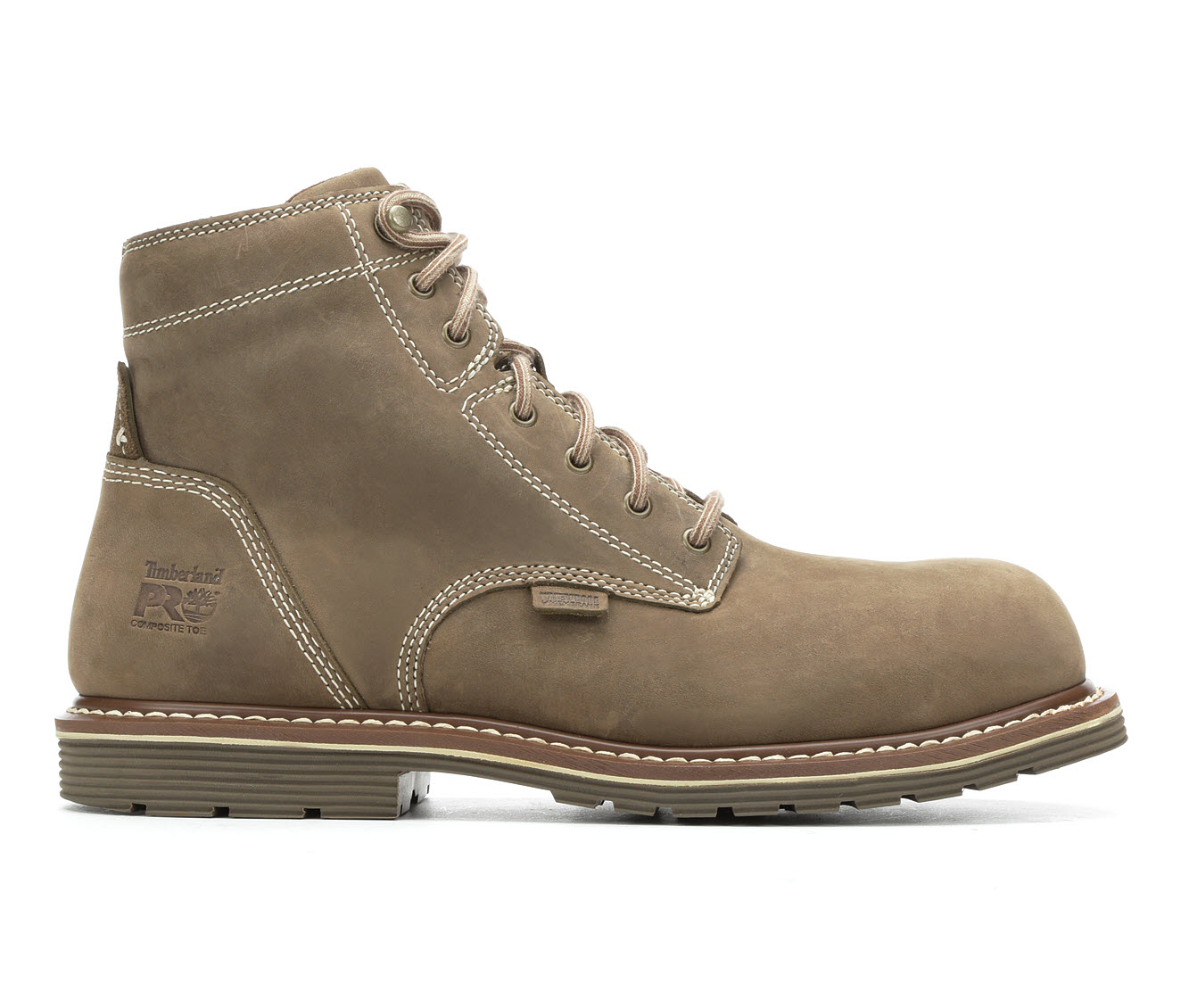 Timberland Pro Millworks A1VF8 Steel Toe Waterproof Men's Boots (Brown Leather)