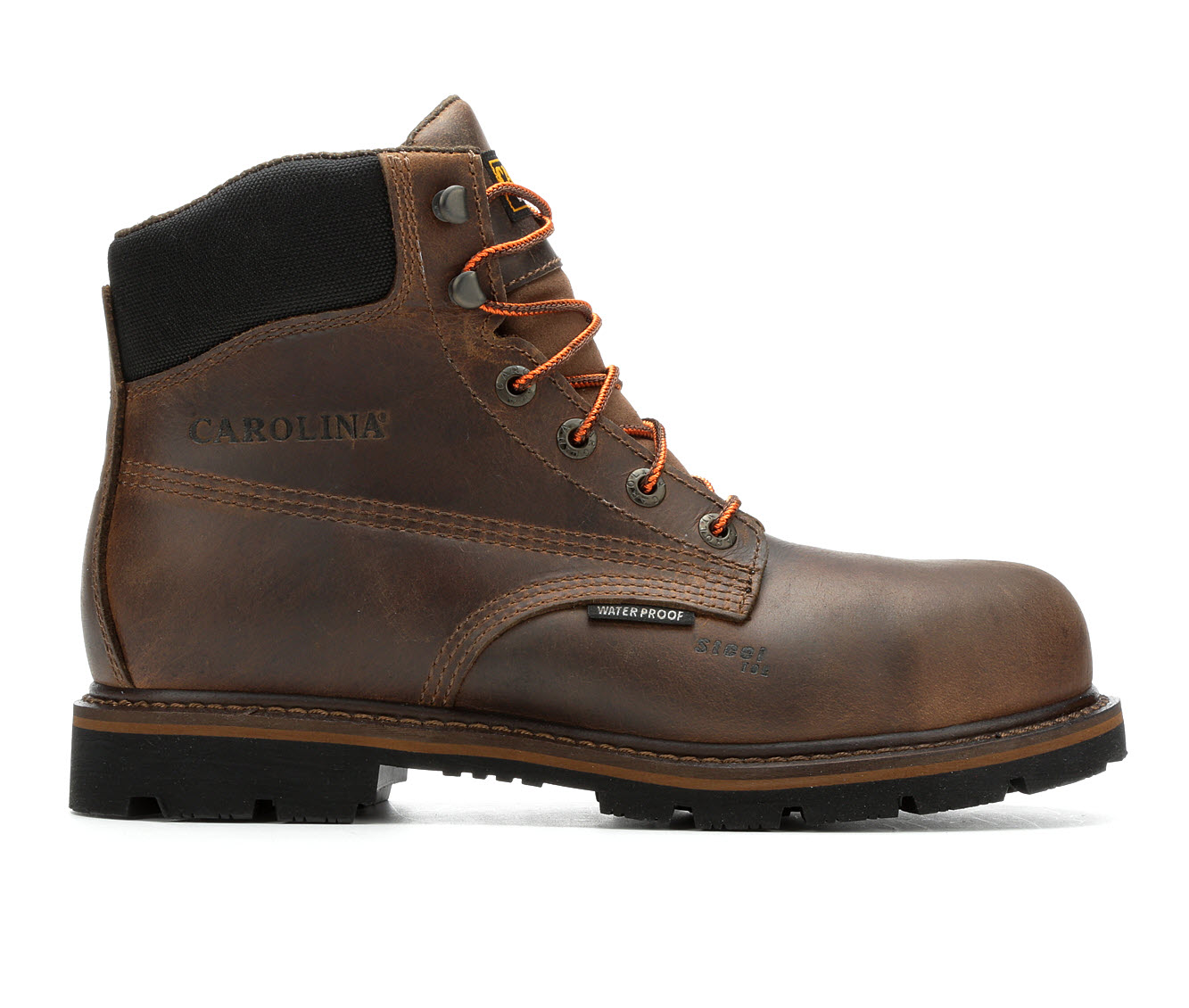 Carolina Boots CA8889 6 Inch Steel Toe Men's Boots (Brown Leather)