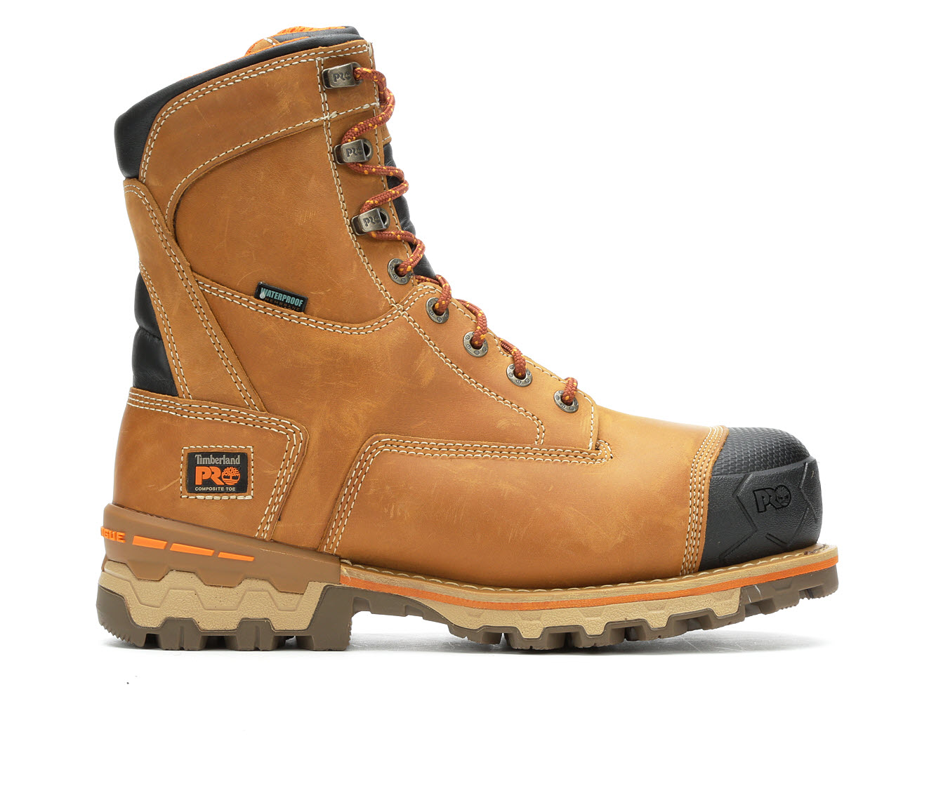 Timberland Pro Boondock 8-inch Comp Toe Waterproof A1Z3G Men's Boots (Beige Leather)