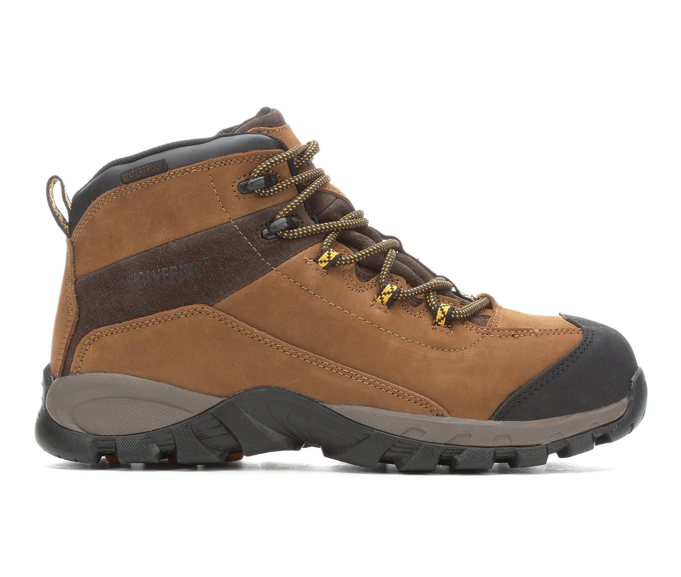 Wolverine Black Ledge 6-inch Steel Toe Waterproof Men's Boots (Brown Leather)