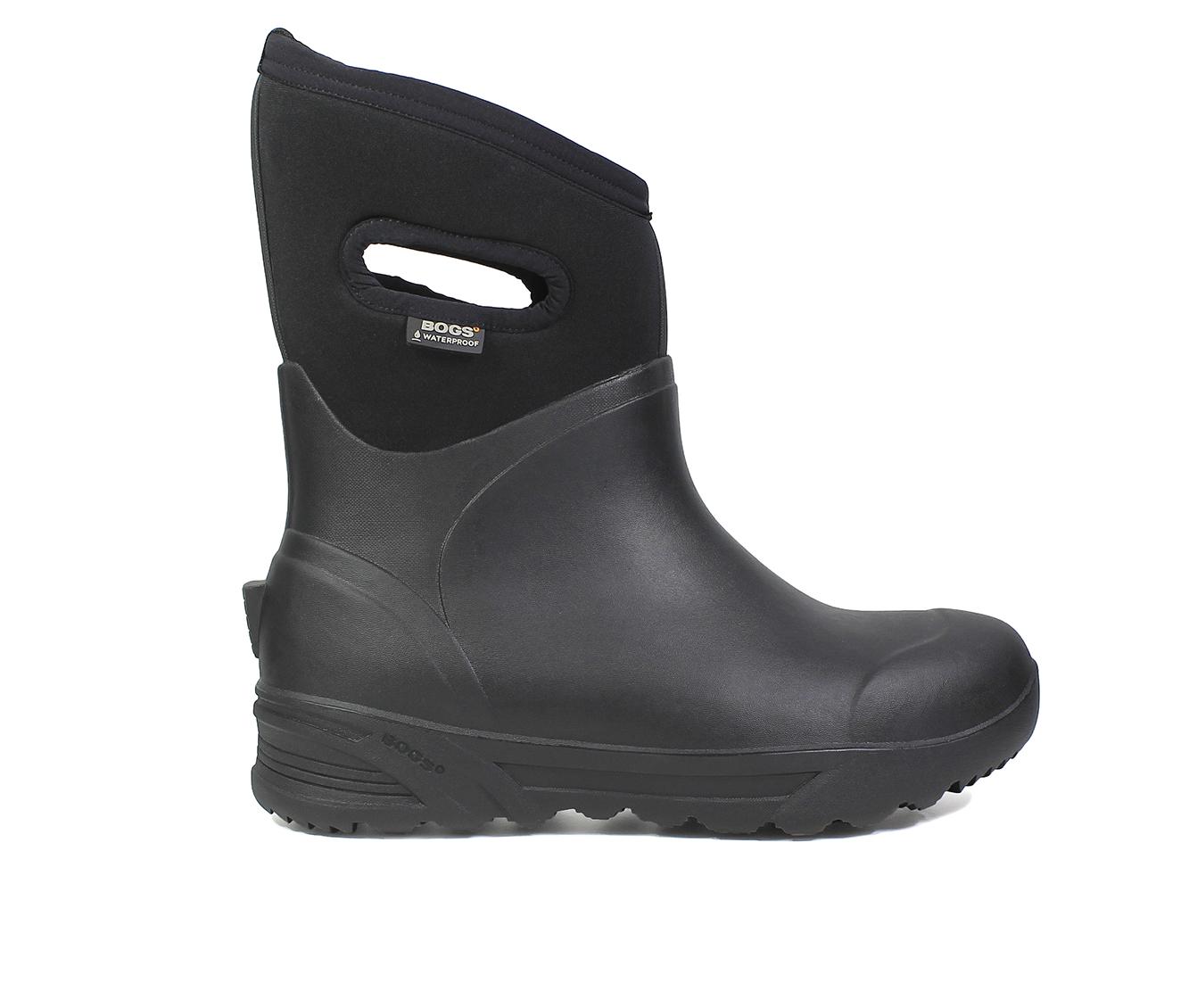 Bogs Footwear Bozeman Mid Insulated Waterproof Boots Men's Boots (Black Fabric)