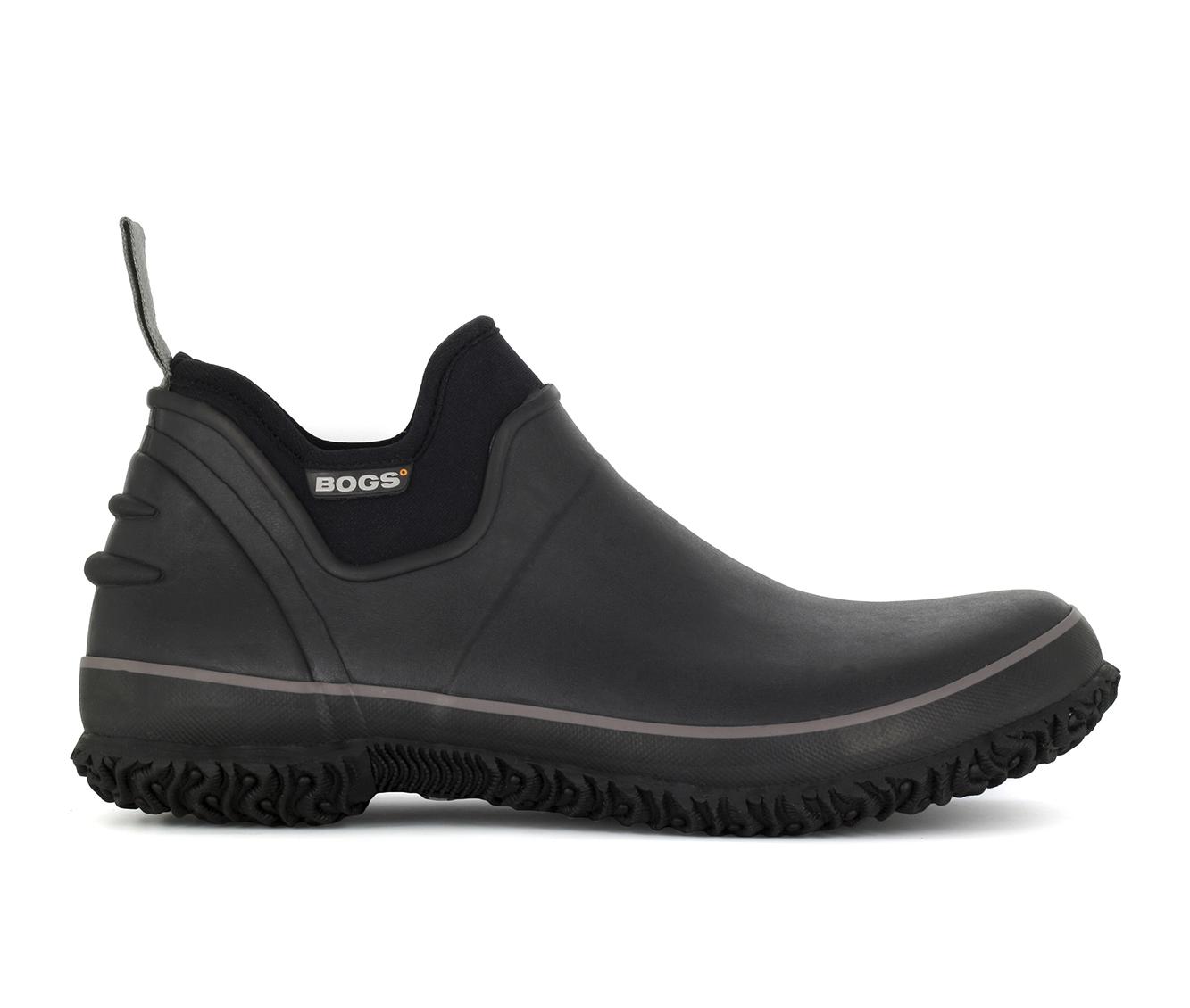 Bogs Footwear Urban Farmer Waterproof Slip On Men's Boots (Black Faux Leather)