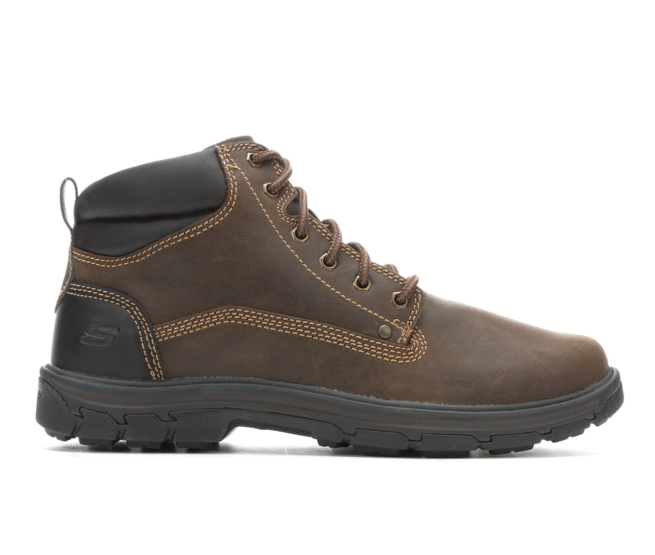 Skechers Garnet 65573 Men's Boots (Brown Leather)