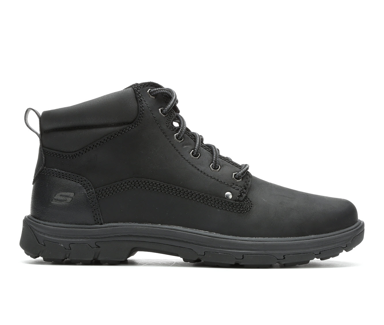 Skechers Garnet 65573 Men's Boots (Black Leather)