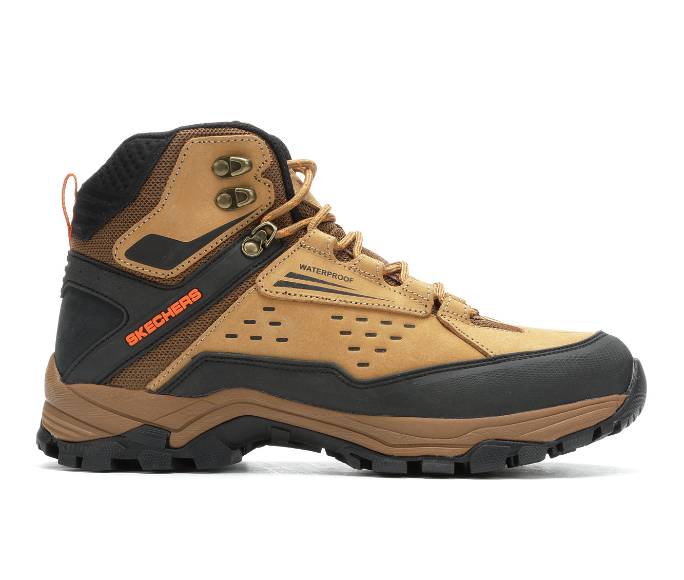 Skechers Norwood 65755 Men's Boots (Beige Leather)