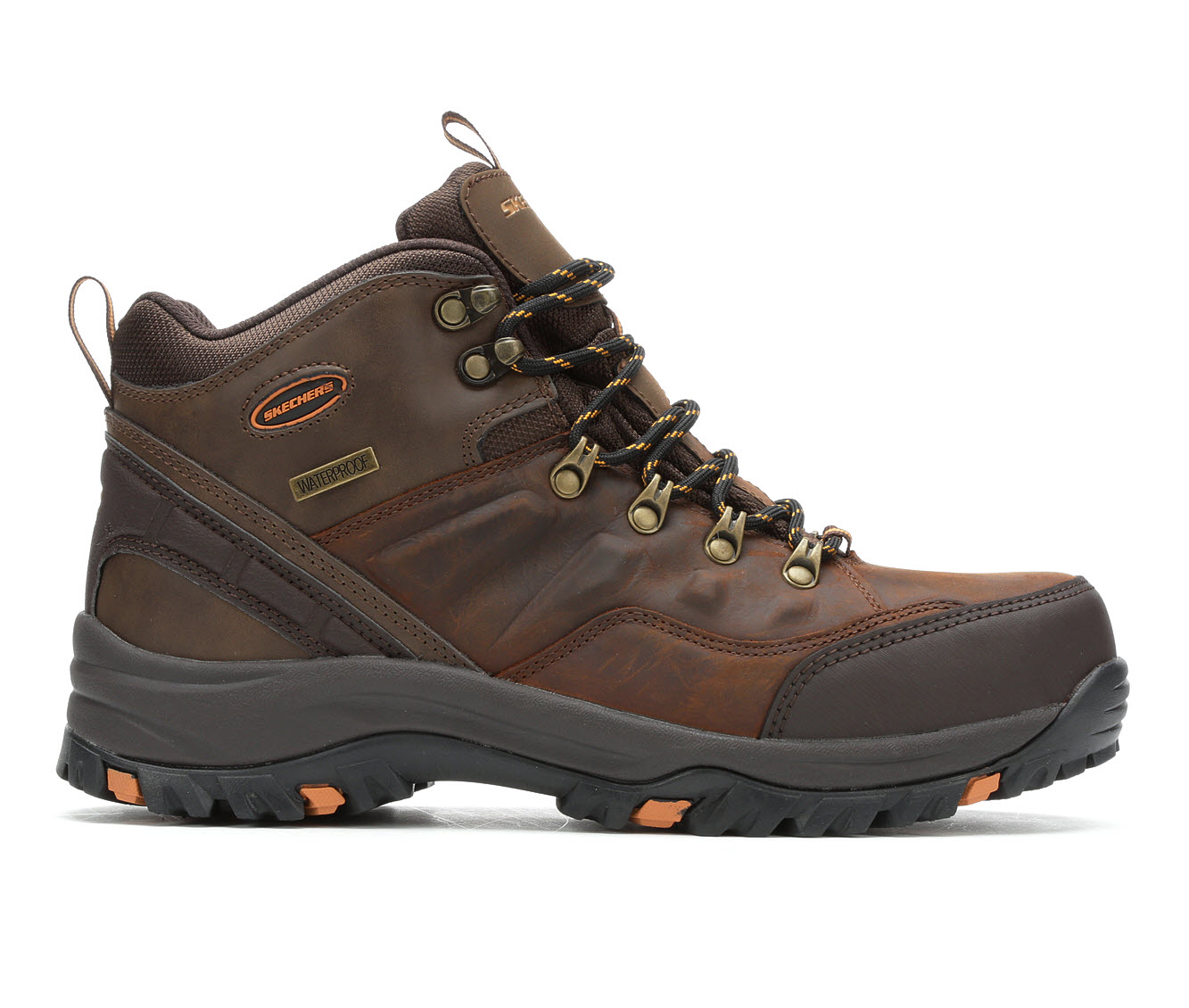 Skechers Traven 65229 Men's Boots (Brown Leather)