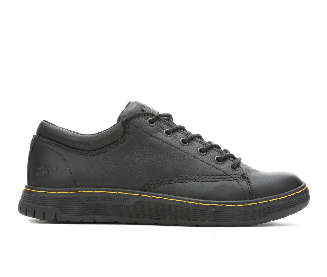 Dr. Martens Industrial Maltby Slip Resistant Men's Boots (Black Leather)