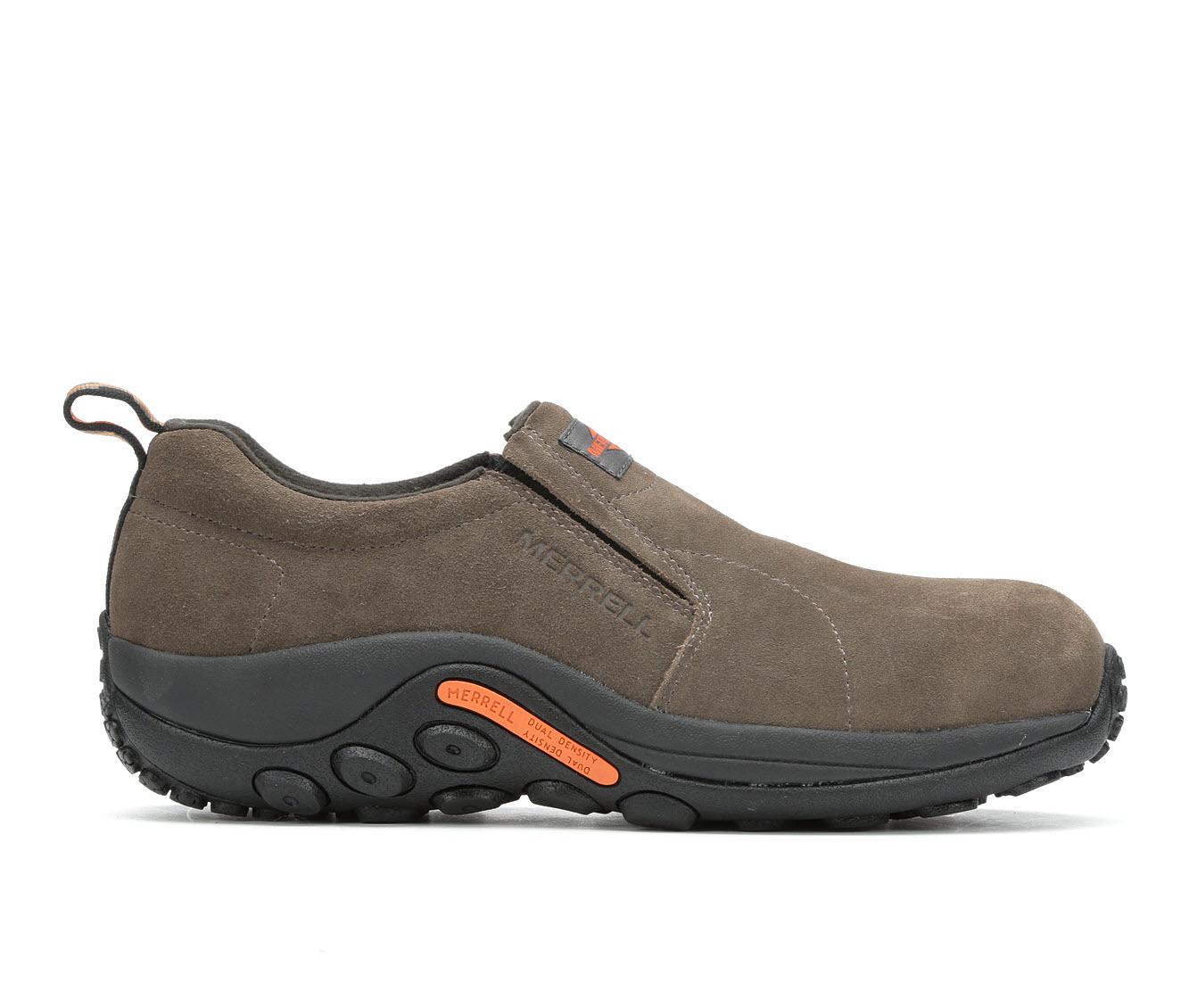 Merrell Work Jungle Moc Alloy Toe Men's Boots (Brown Suede)