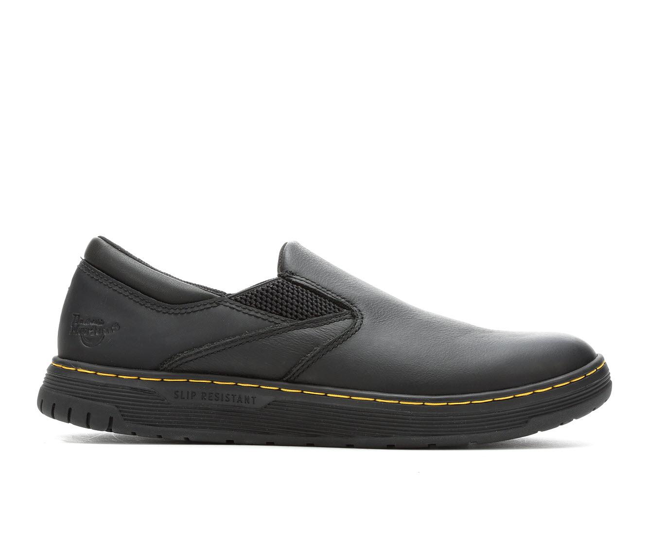 Dr. Martens Industrial Brockley Slip Resistant Men's Boots (Black Leather)