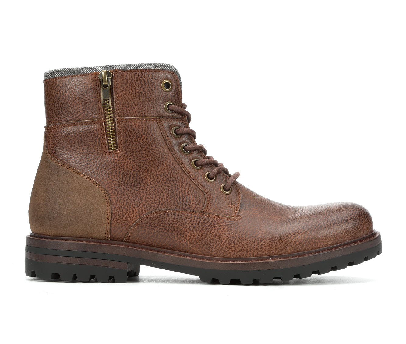 Madden Mansol Men's Boots (Brown Faux Leather)