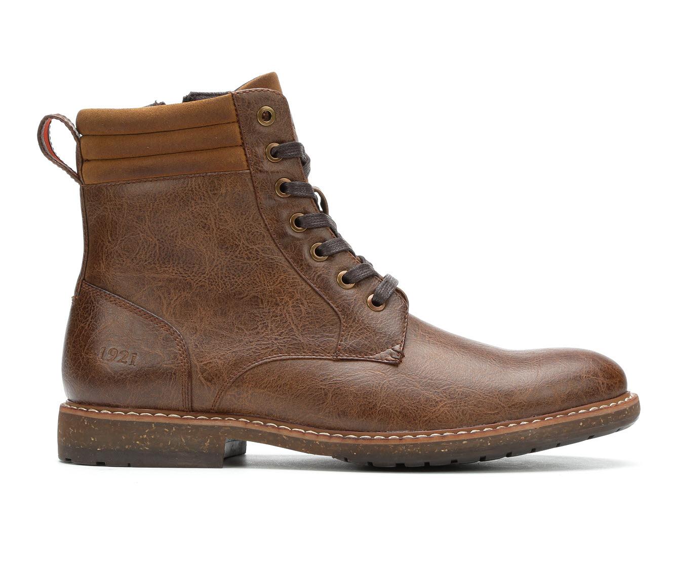 Freeman Jackson Men's Boots (Brown Faux Leather)
