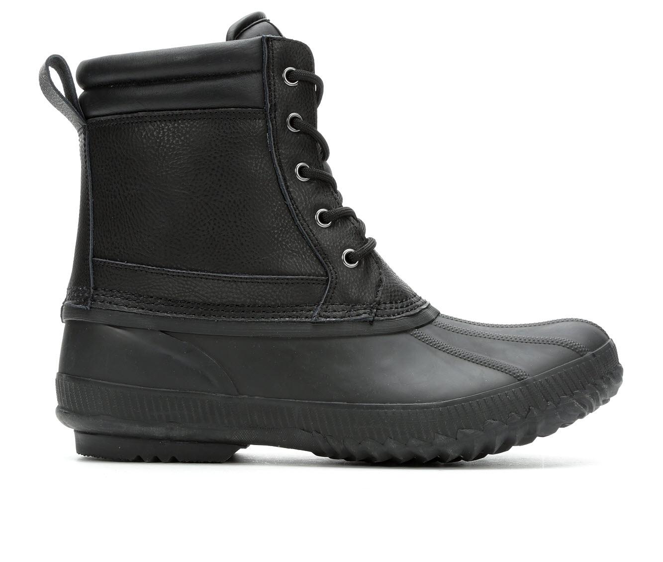 London Fog Sheiffield Men's Boots (Black Leather)