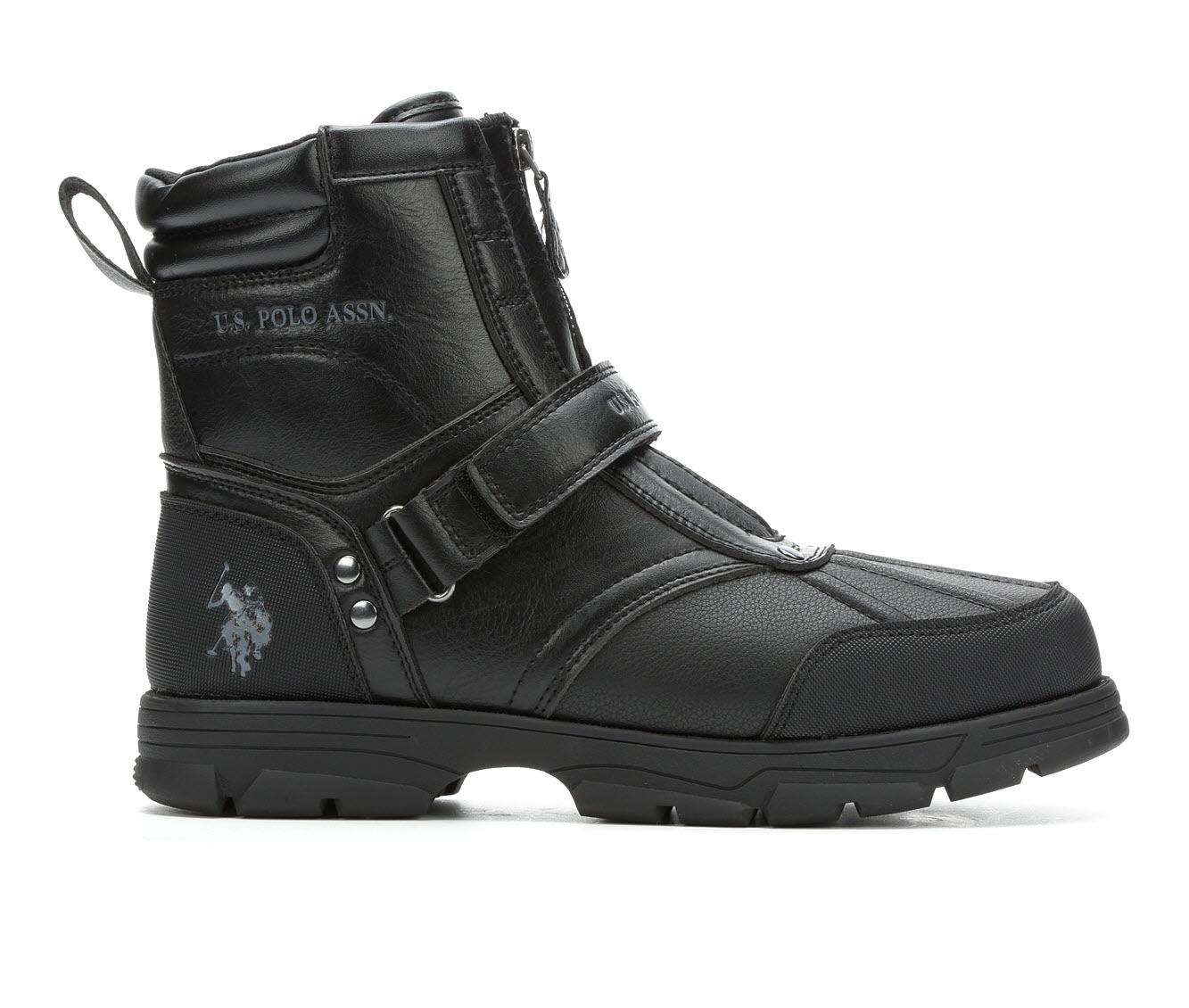 US Polo Assn Fairfield Men's Boots (Black Faux Leather)