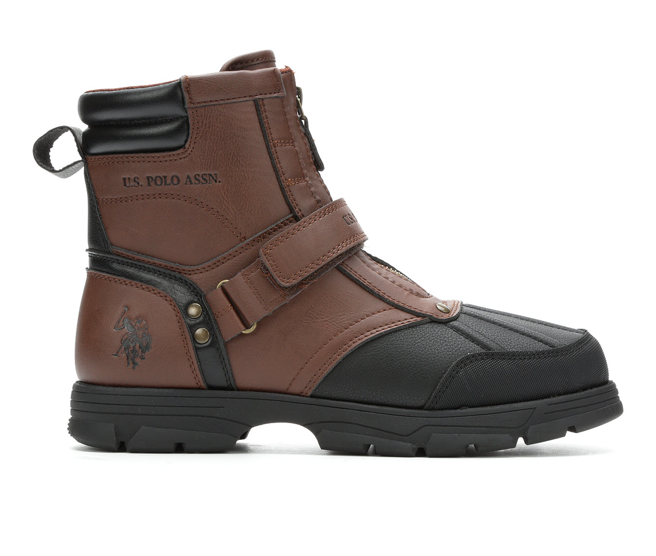 US Polo Assn Fairfield Men's Boots (Brown Faux Leather)