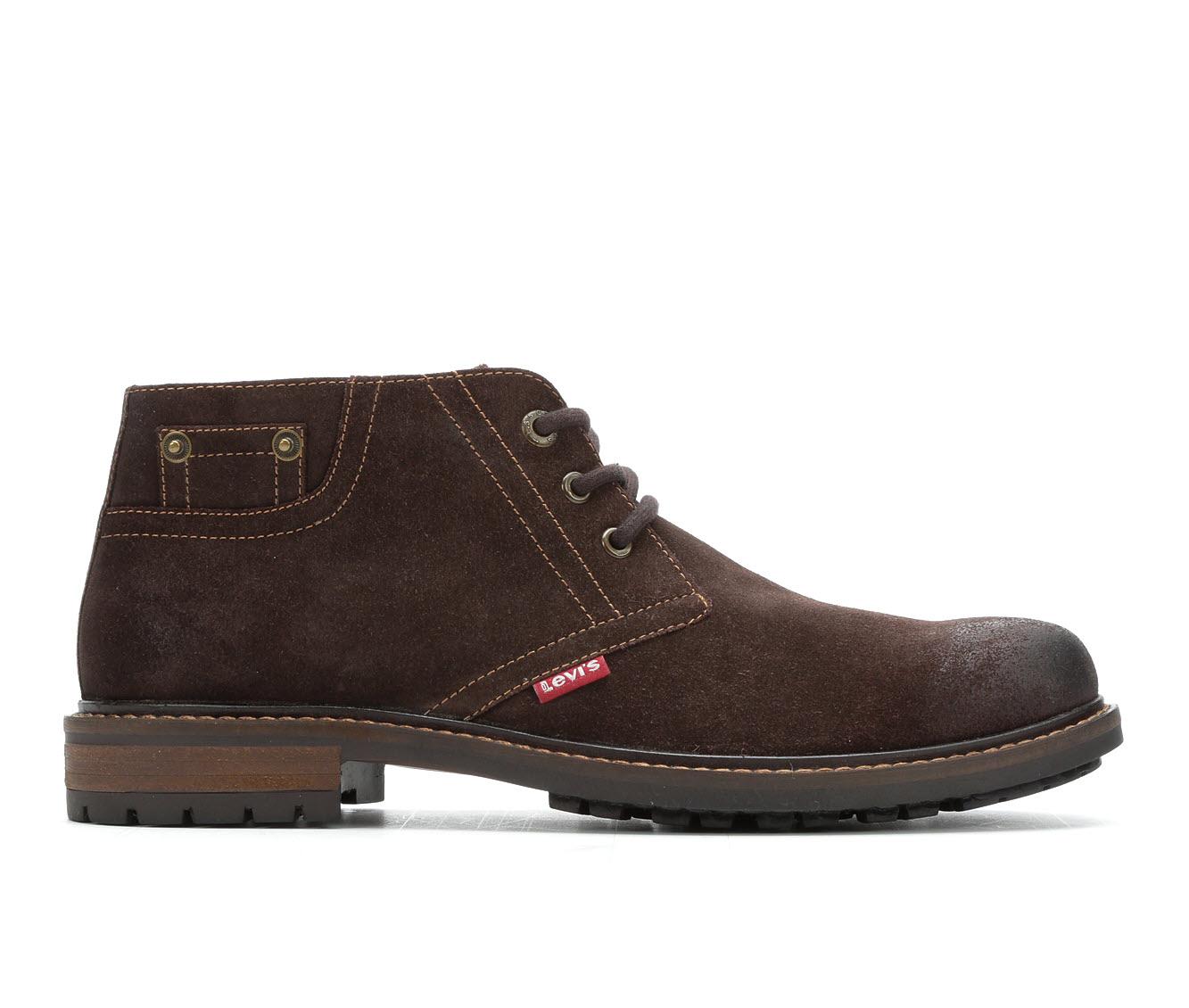 Levis Cambridge Suede Men's Boots (Brown Faux Leather)