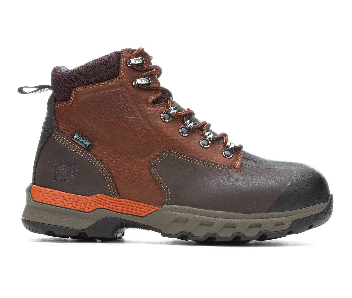 Timberland Pro A1VEW Downdraft Waterproof Alloy Toe Men's Boots (Brown Leather)