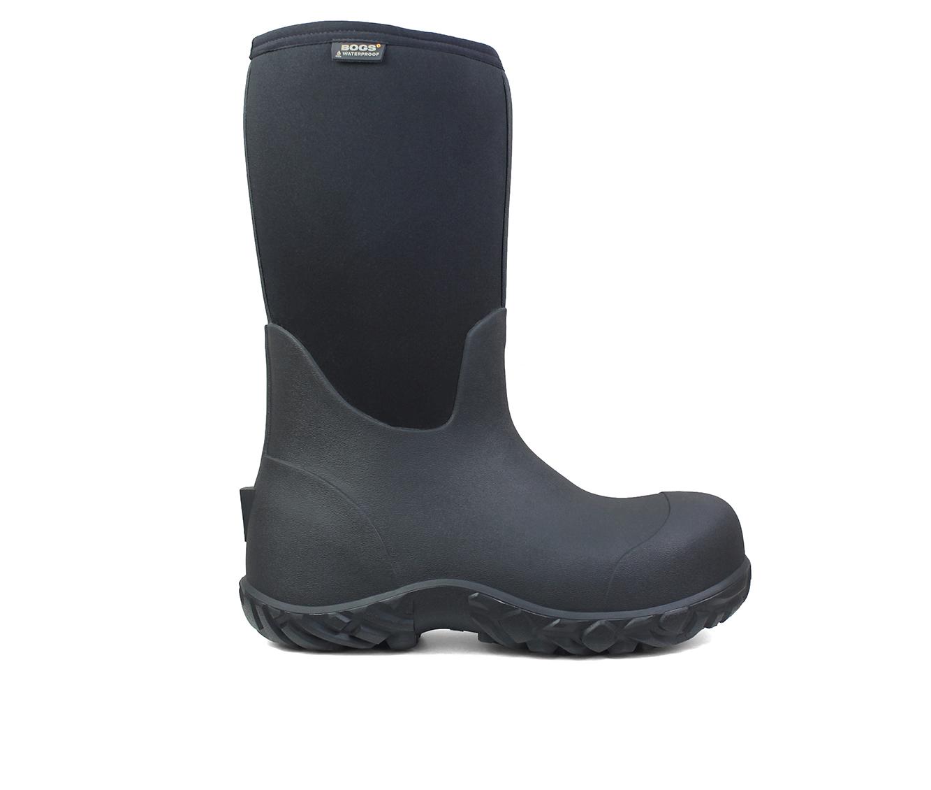 Bogs Footwear Workman Comp Toe Men's Boots (Black Fabric)