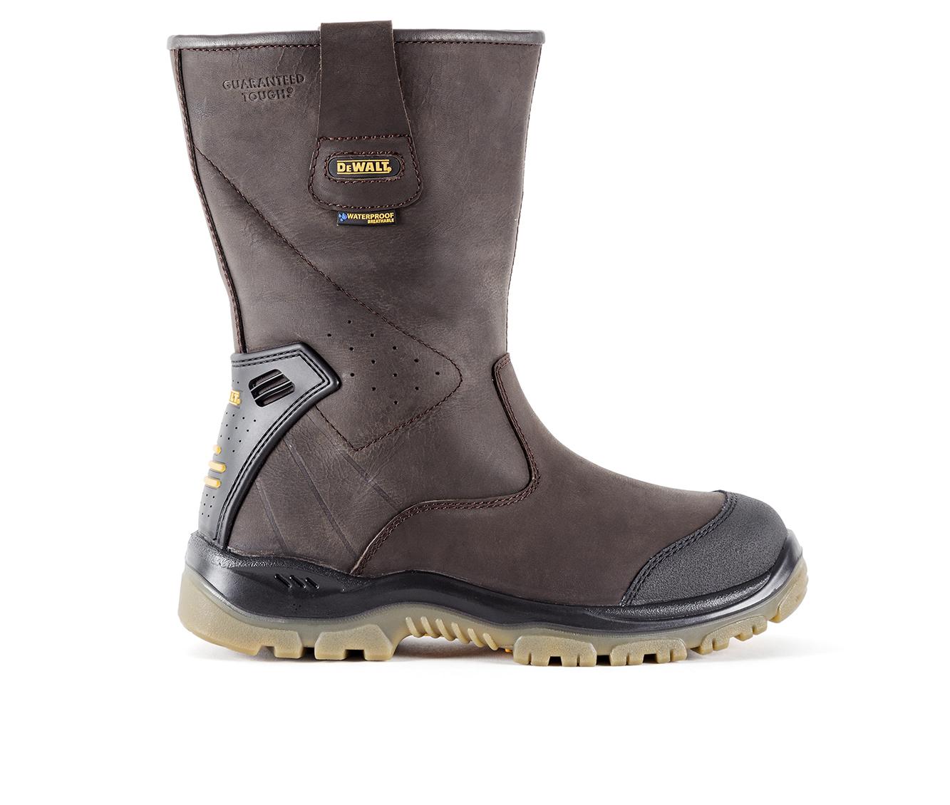 DeWALT Titanium Steel Toe Waterproof Pull On Men's Boots (Brown Leather)