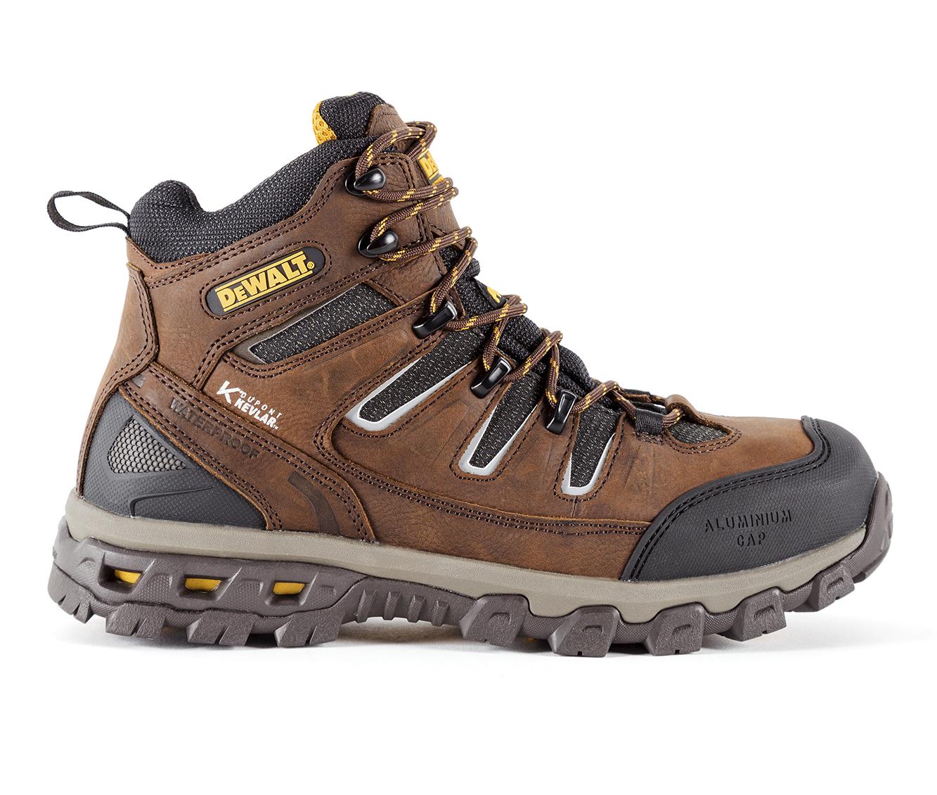 DeWALT Argon 6 Inch Aluminum Toe Waterproof Men's Boots (Brown Fabric)