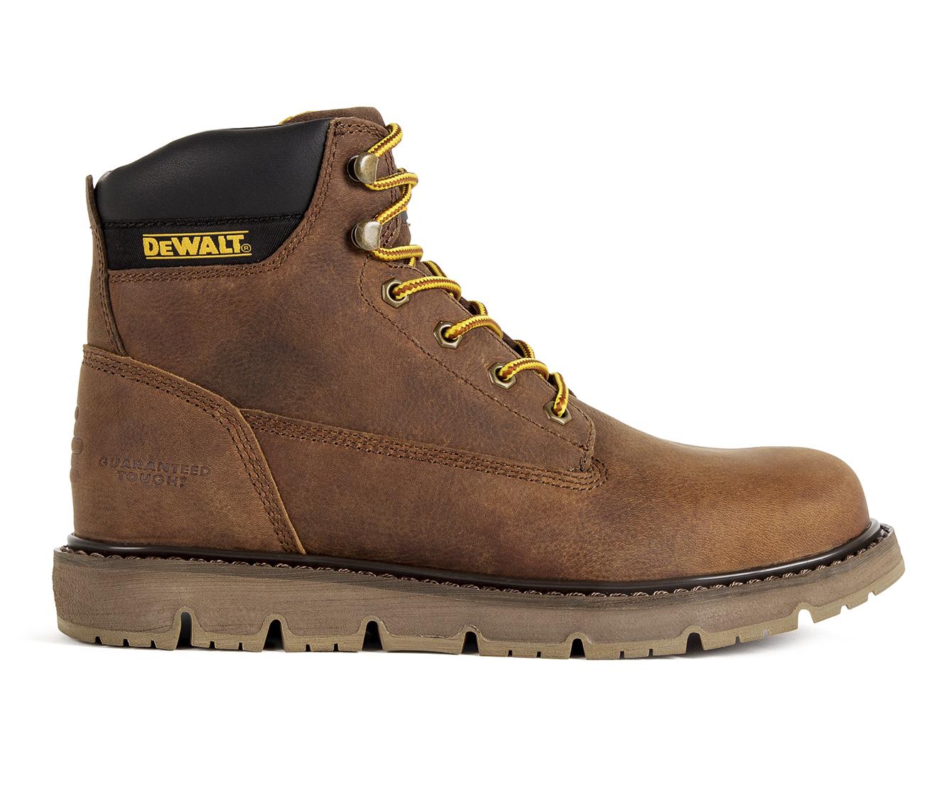 DeWALT Flex PT Bison Slip Resistant Men's Boots (Brown Leather)