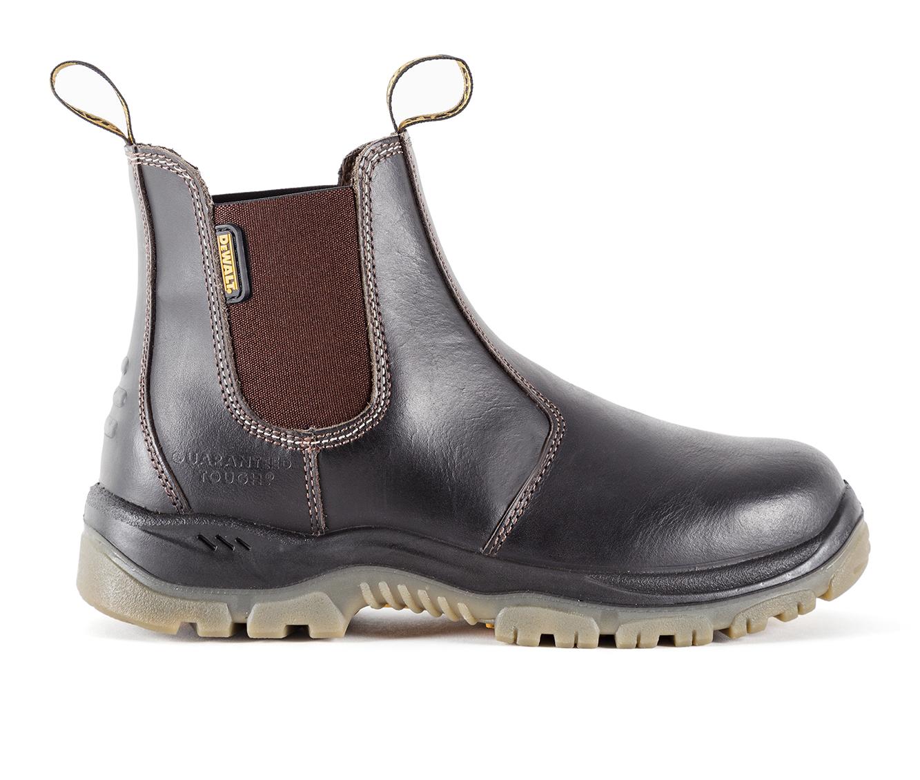 DeWALT Nitrogen Steel Toe Men's Boots (Brown Leather)