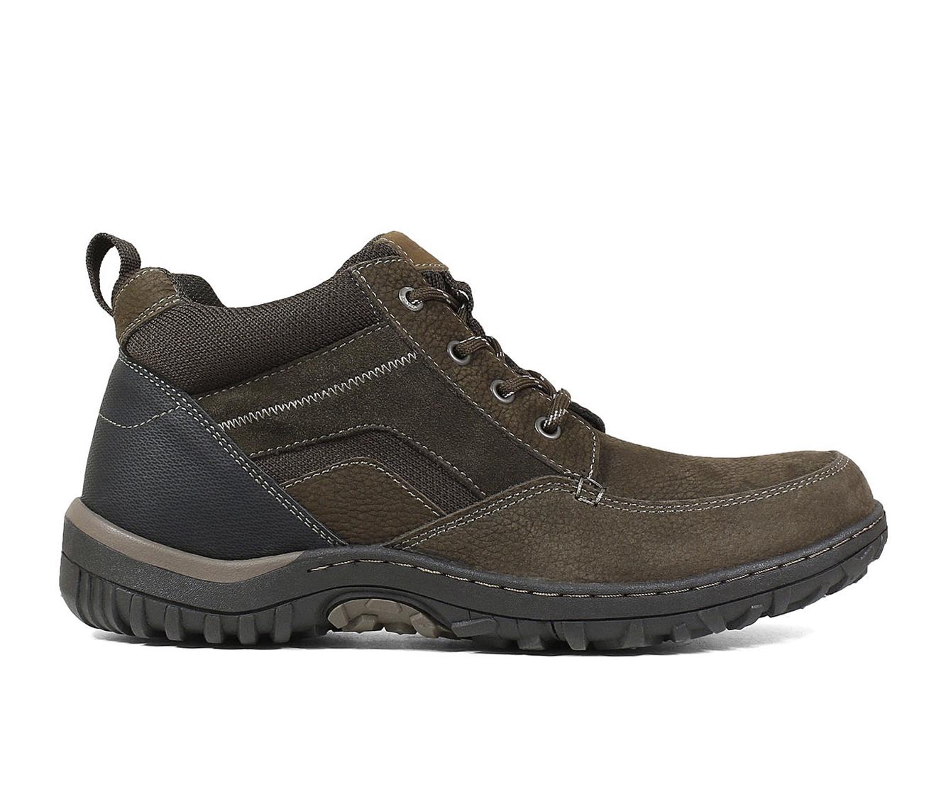Nunn Bush Quest Moc Toe Chukka Men's Boots (Brown Faux Leather)