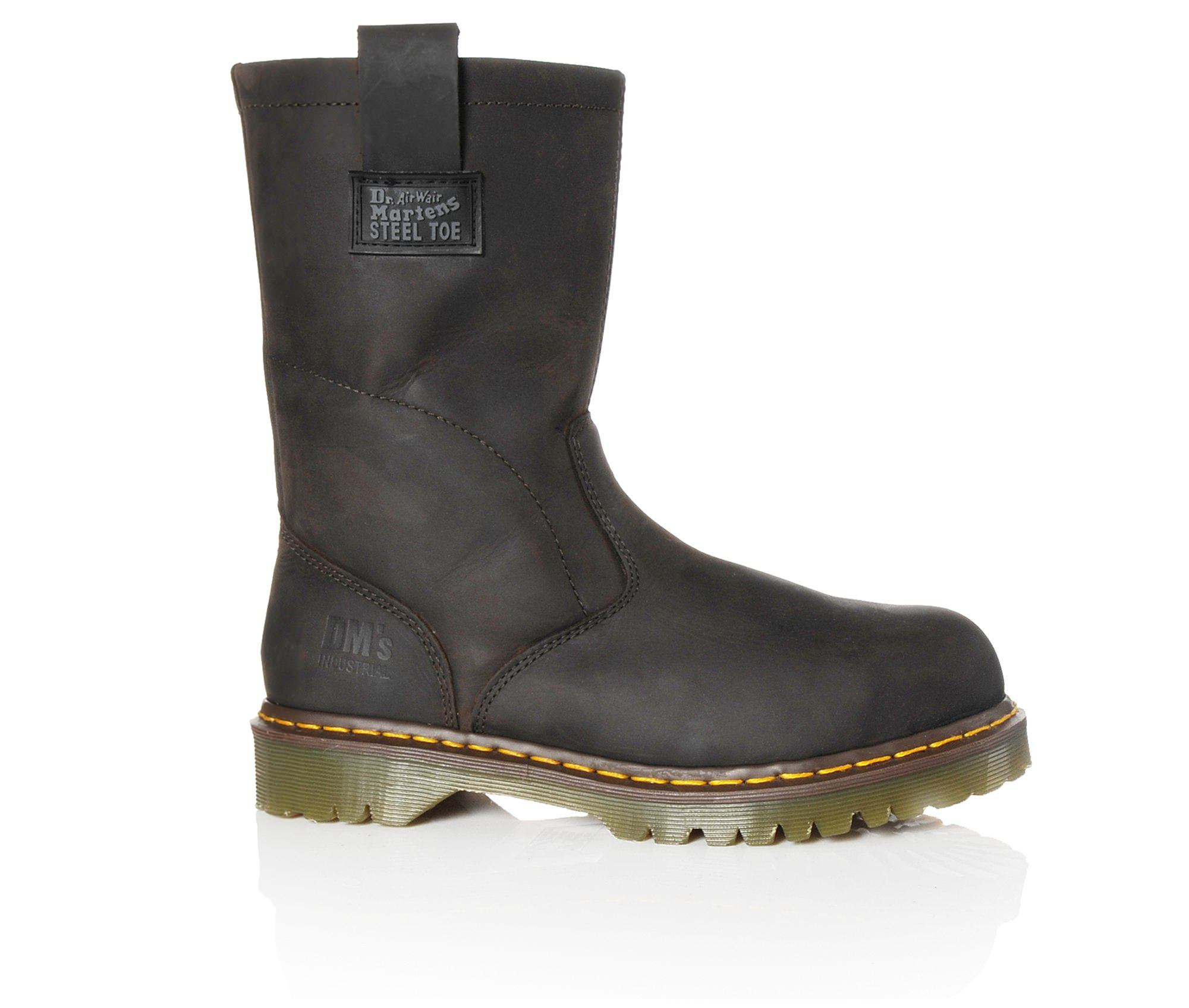 Dr. Martens Industrial Icon Wellington 2295 Steel Toe Men's Boots (Brown Leather)