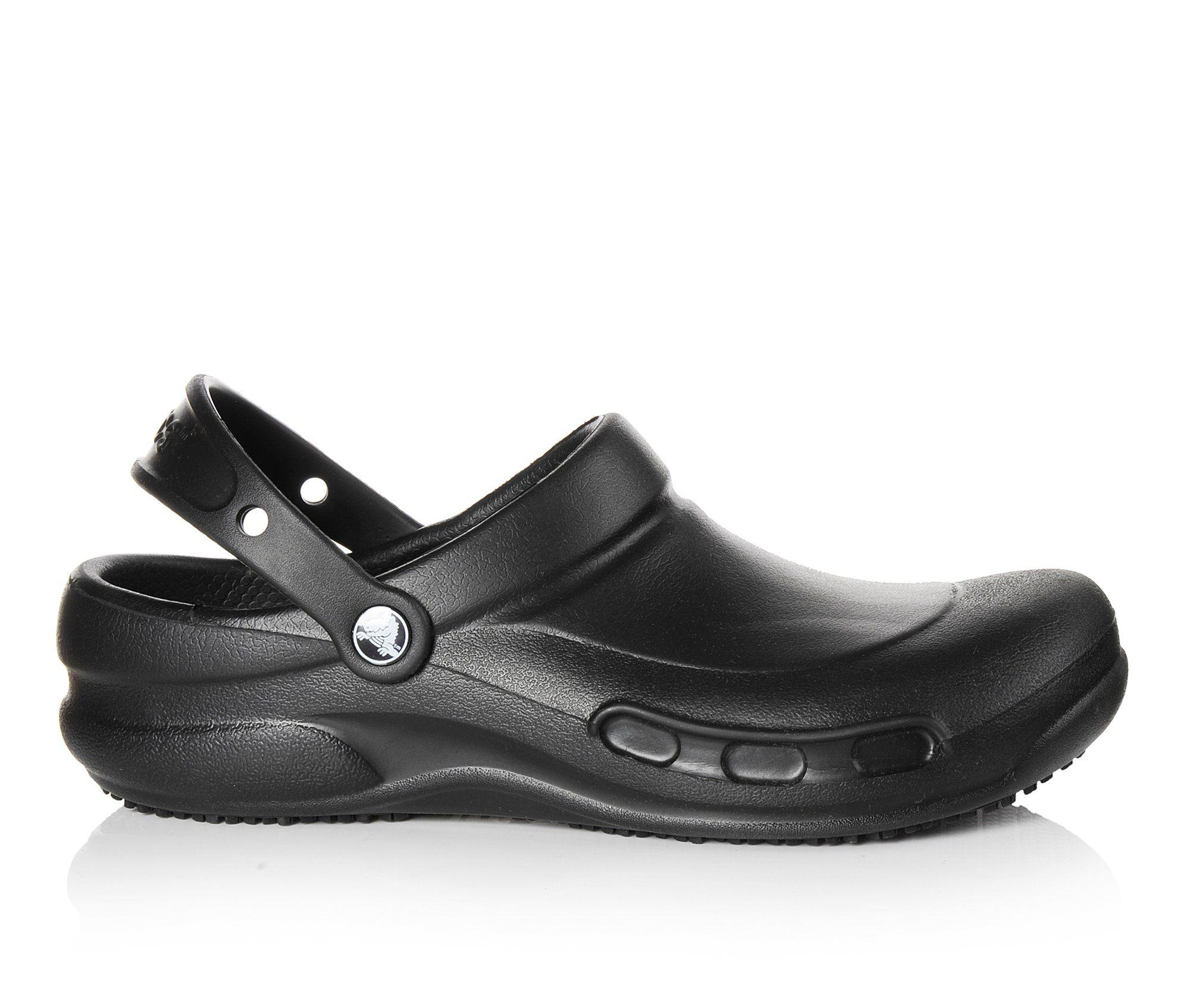 Crocs Work Bistro Slip Resistant Men's Boots (Black Faux Leather)