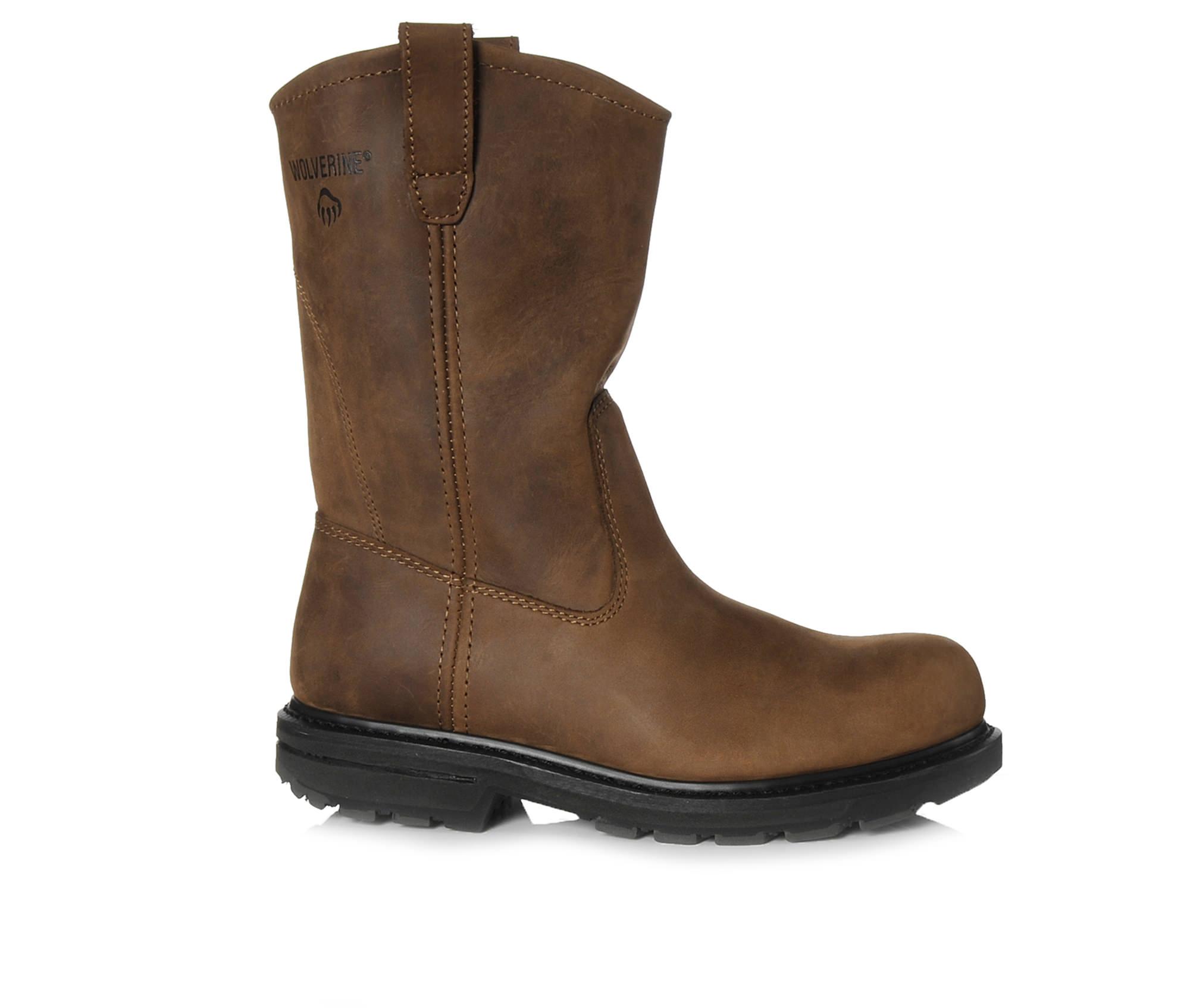 Wolverine Wellington 10 In Steel Toe 4707 Men's Boots (Brown Leather)