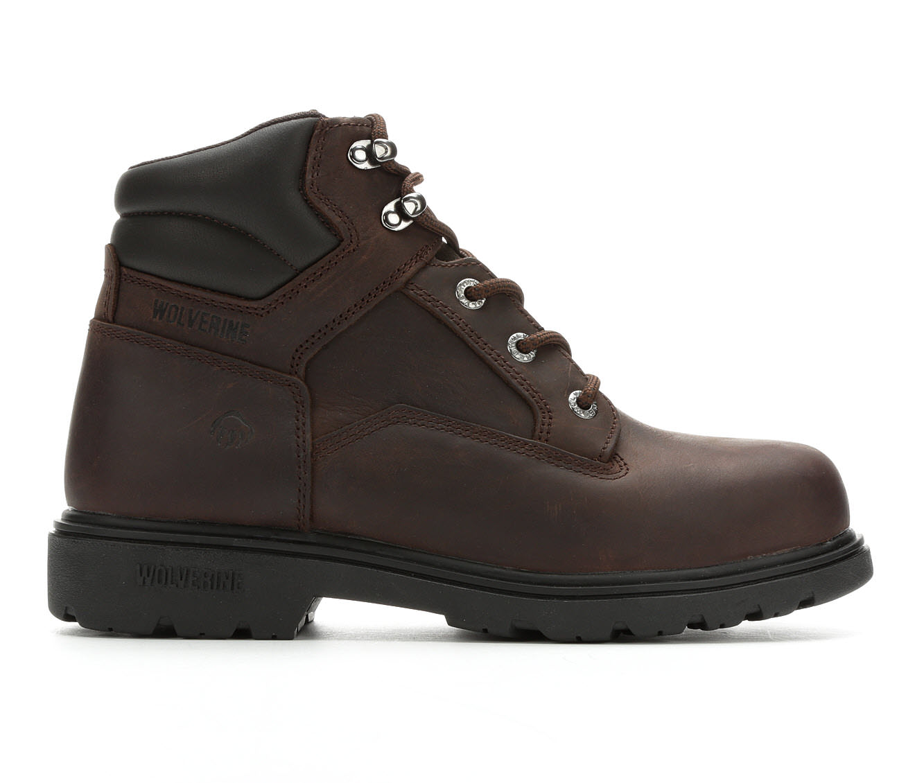 Wolverine 6 In Bulldozer Steel Toe Men's Boots (Brown Leather)