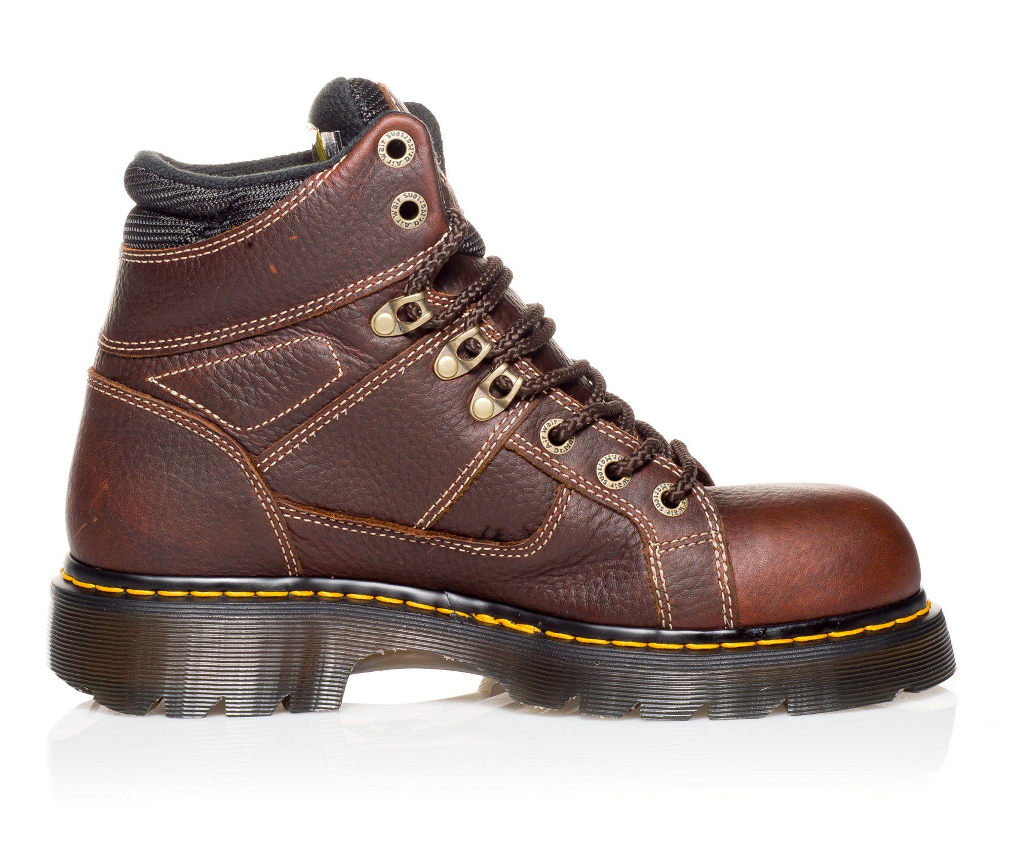 Dr. Martens Industrial Ironbridge 6 In Steel Toe Men's Boots (Brown Leather)