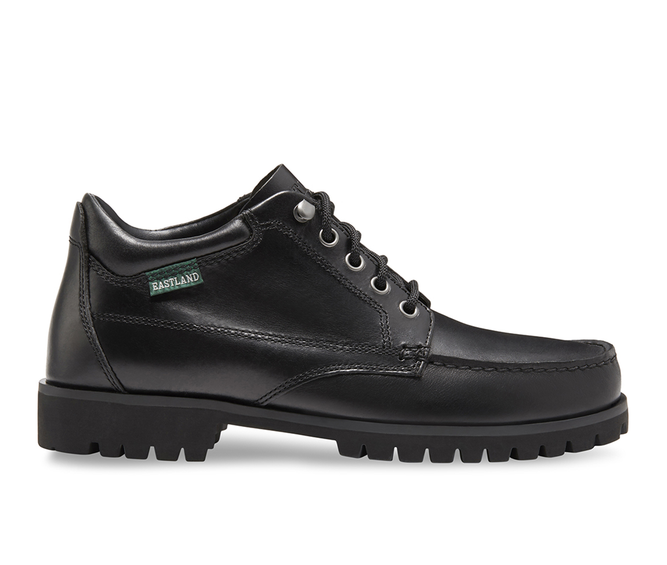 Eastland Brooklyn Moc Toe Men's Boots (Black Leather)