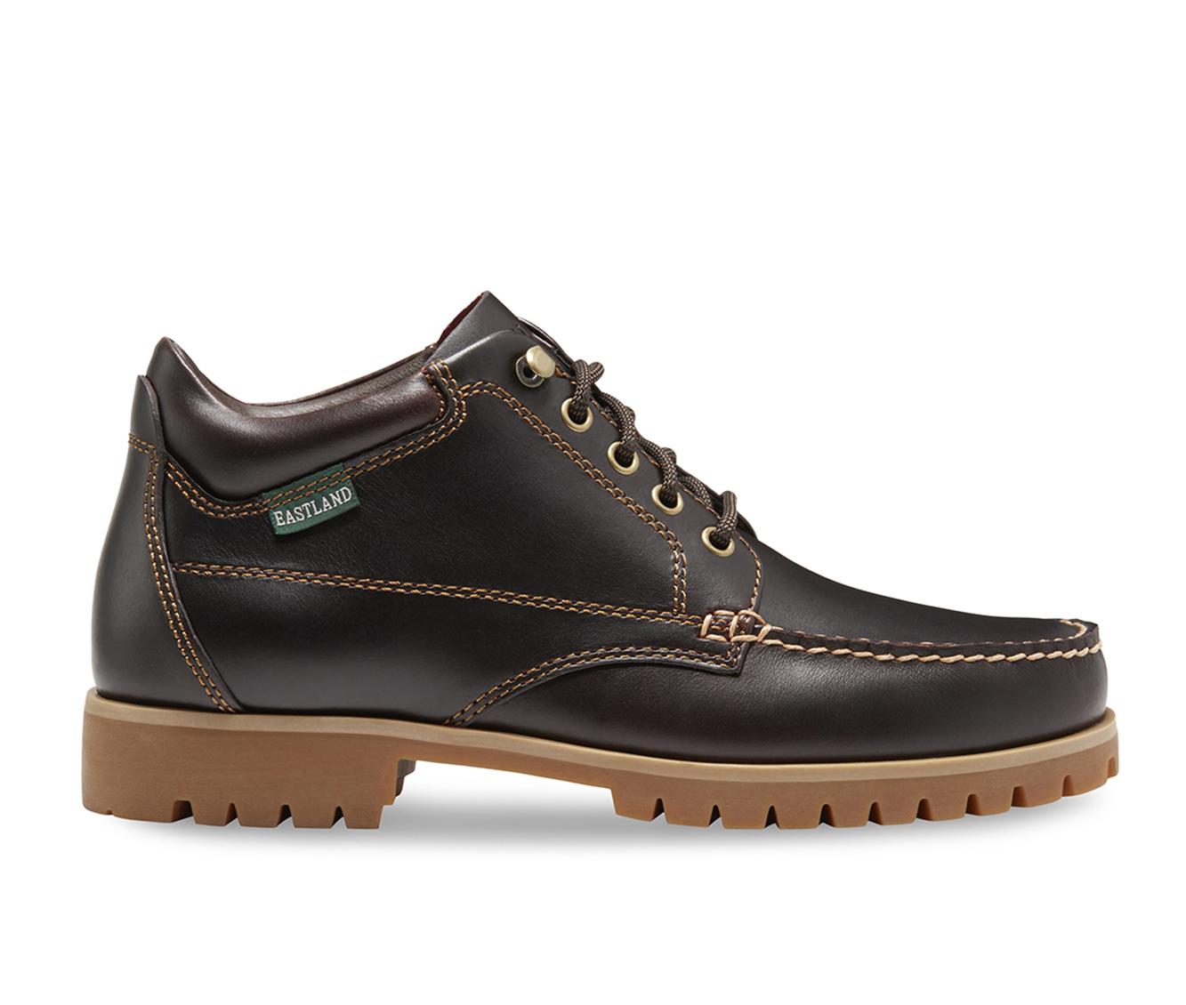 Eastland Brooklyn Moc Toe Men's Boots (Brown Leather)