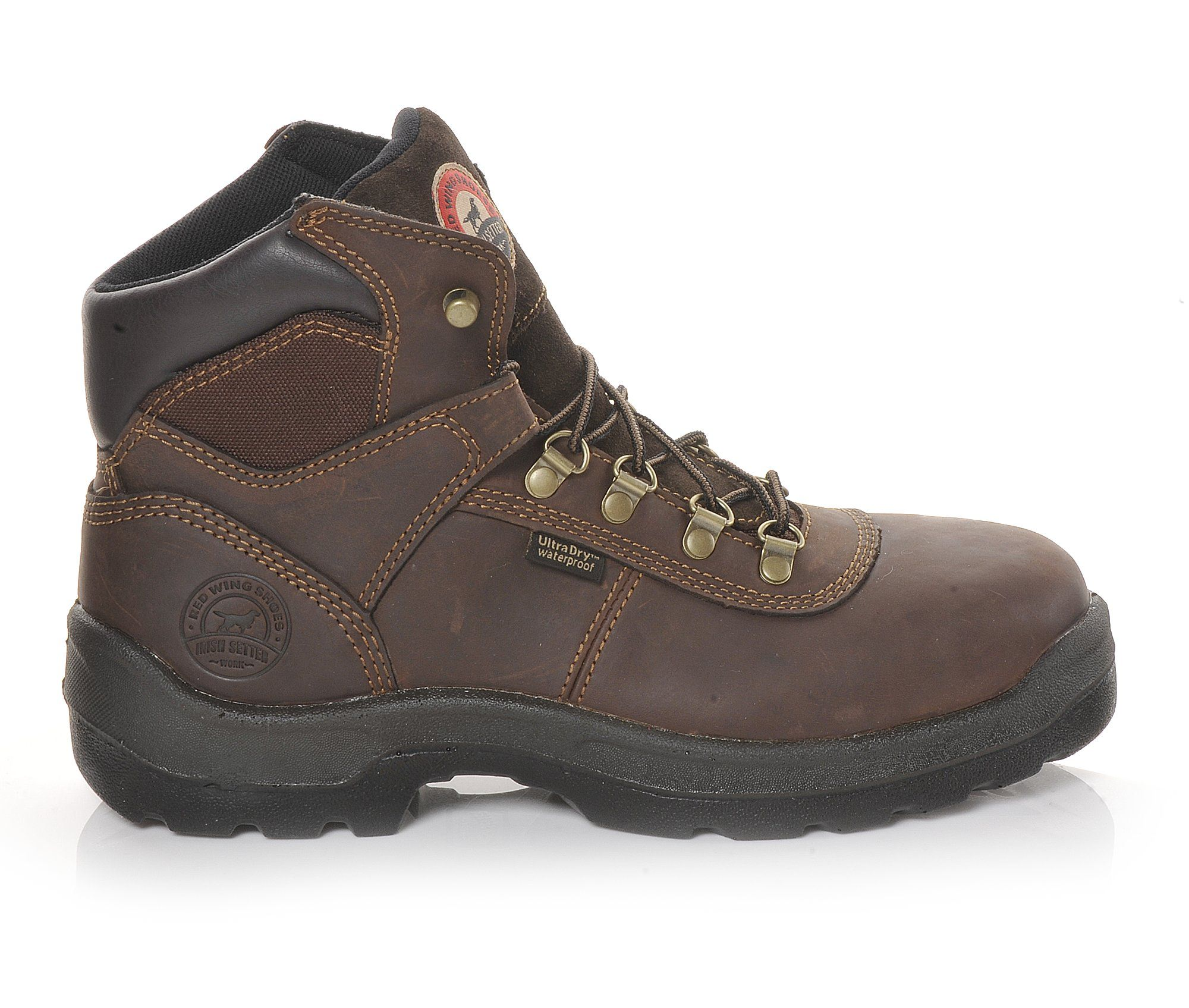 Red Wing-Irish Setter 83617 Ely Hiker 6 Inch Men's Boots (Brown Leather)