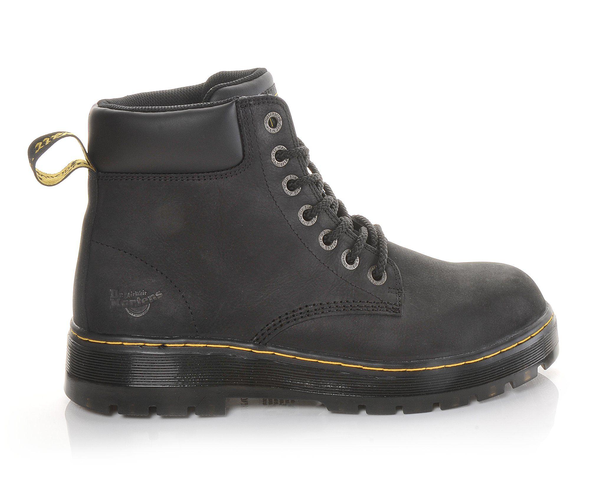 Dr. Martens Industrial Winch Steel Toe Men's Boots (Black Leather)