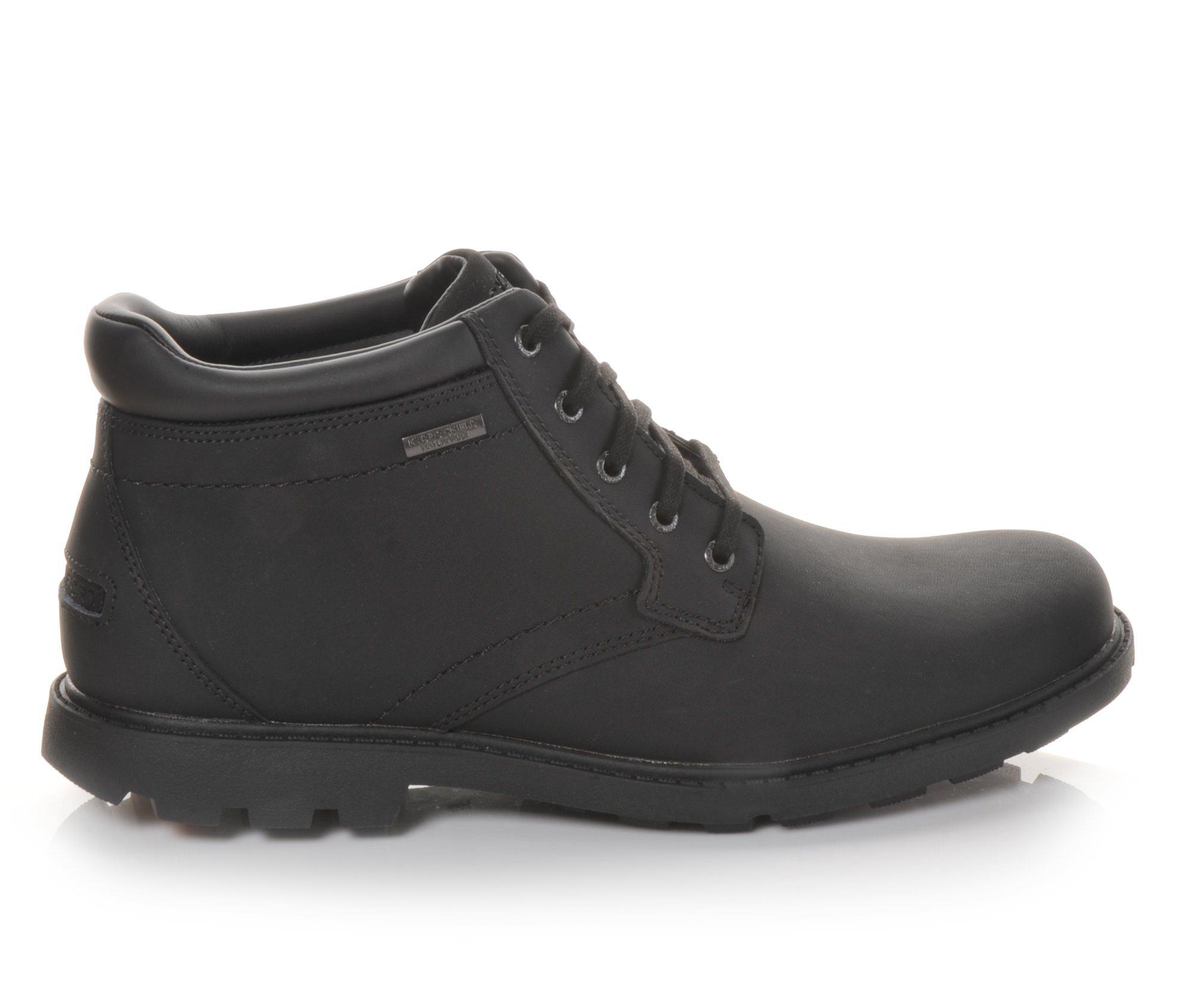Rockport Storm Surge Men's Boots (Black Leather)