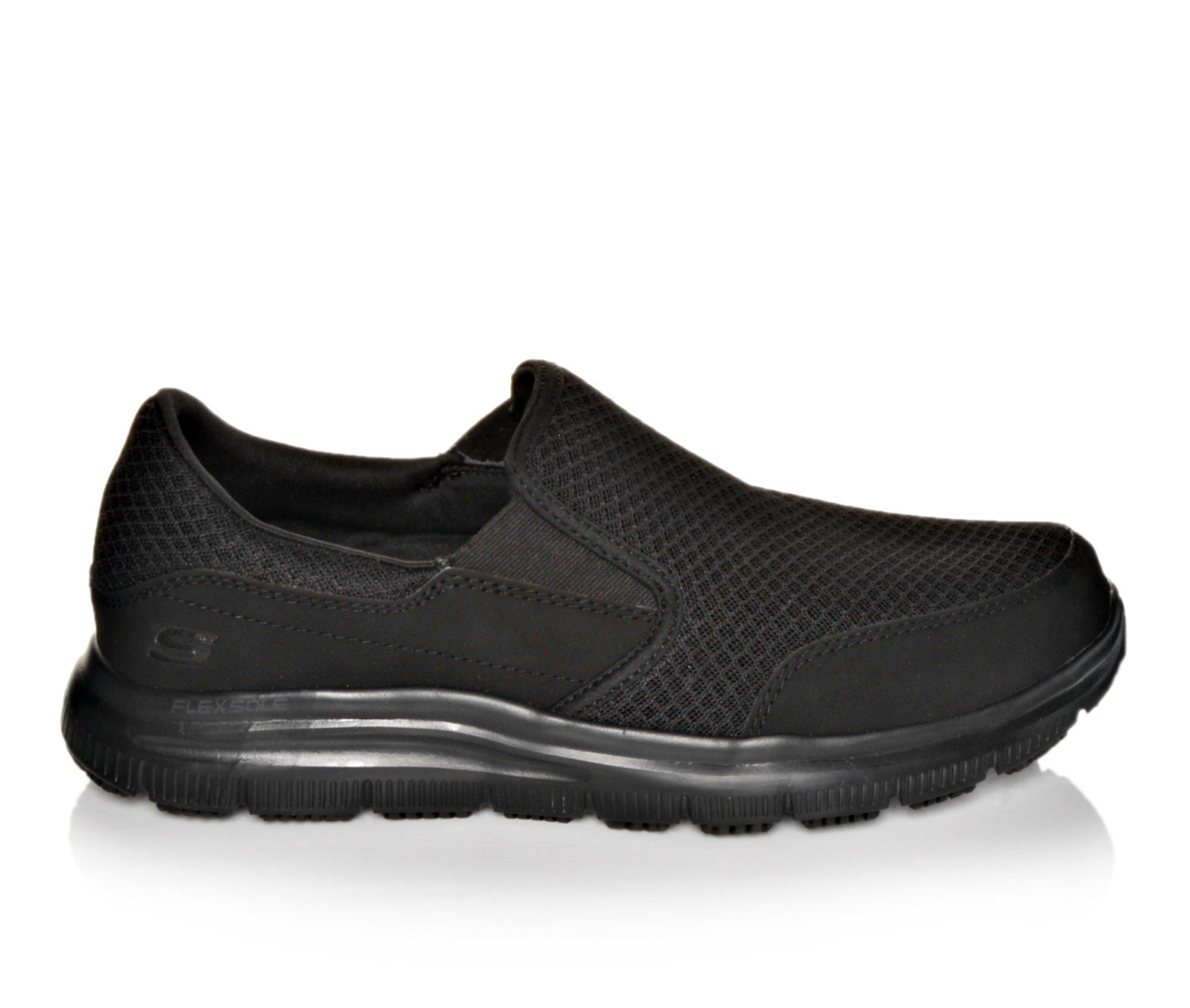 Skechers Work 77048 McAllen Men's Boots (Black Canvas)