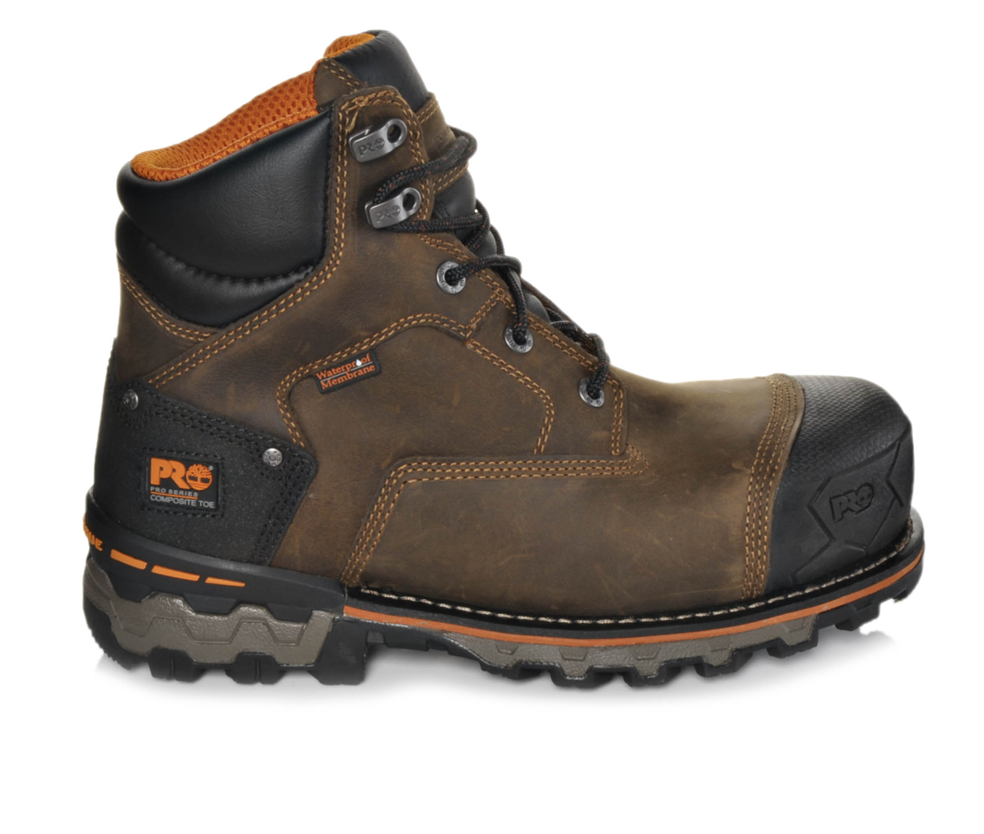 Timberland Pro 92615 Boondock Composite Toe Men's Boots (Brown Leather)