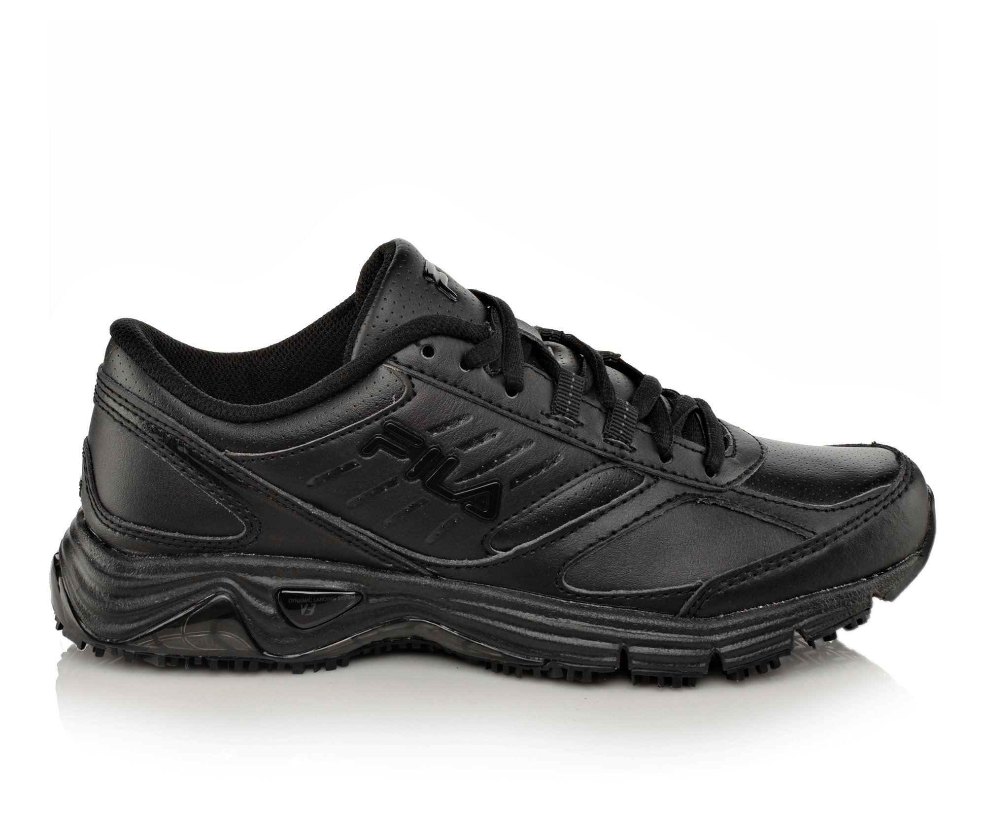 Fila Memory Flux Slip Resistant Men's Boots (Black Leather)