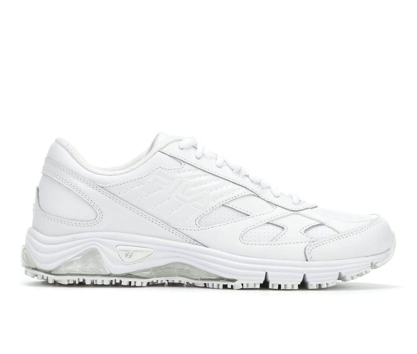 Fila Memory Flux Slip Resistant Men's Boots (White Leather)