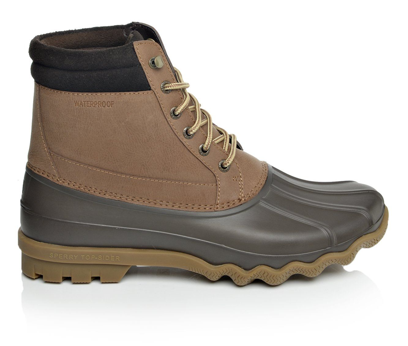 Sperry Brewster Men's Boots (Brown Faux Leather)