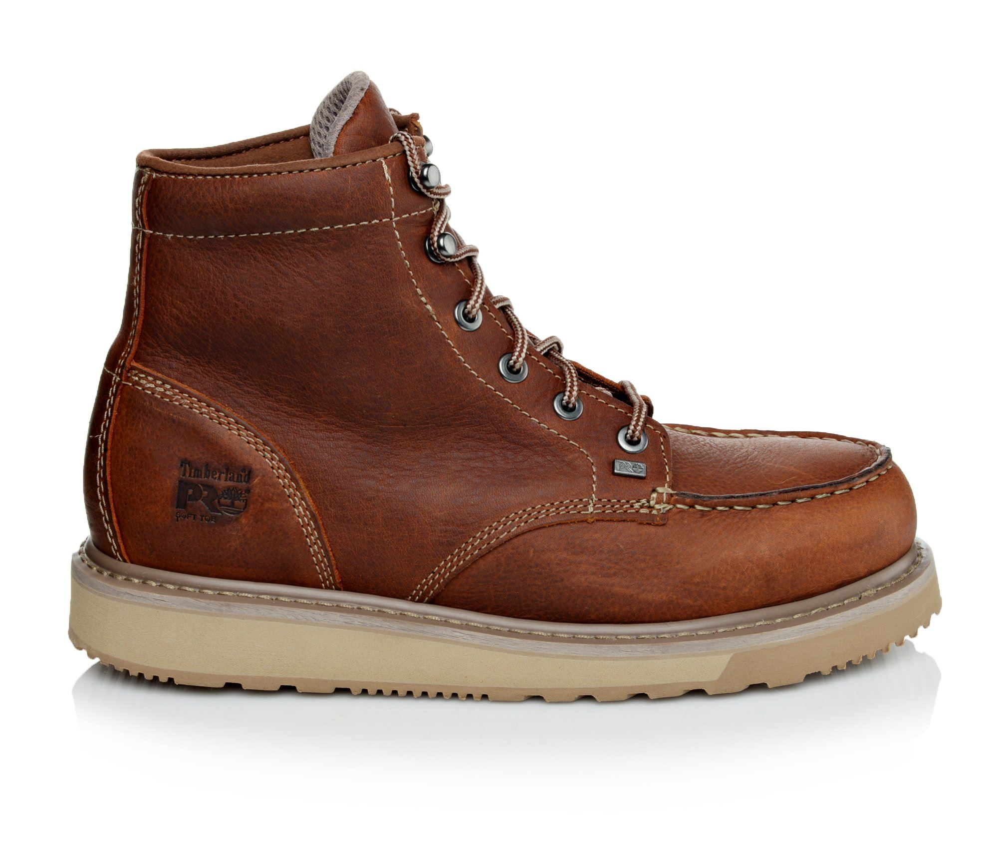 Timberland Pro Barstow Wedge Men's Boots (Brown Leather)