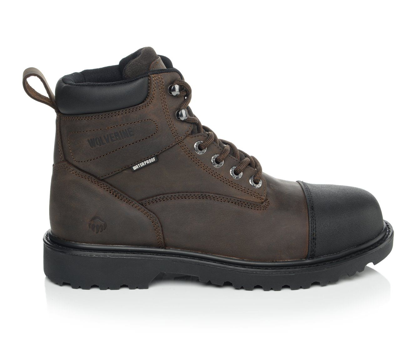 Wolverine Rig Steel Toe Men's Boots (Brown Leather)
