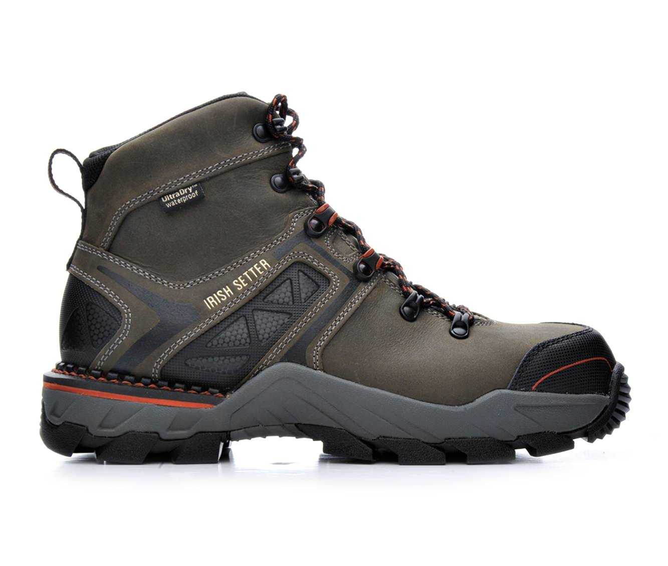 Red Wing-Irish Setter 83628 Crosby Composite Toe Waterproof Men's Boots (Gray Leather)